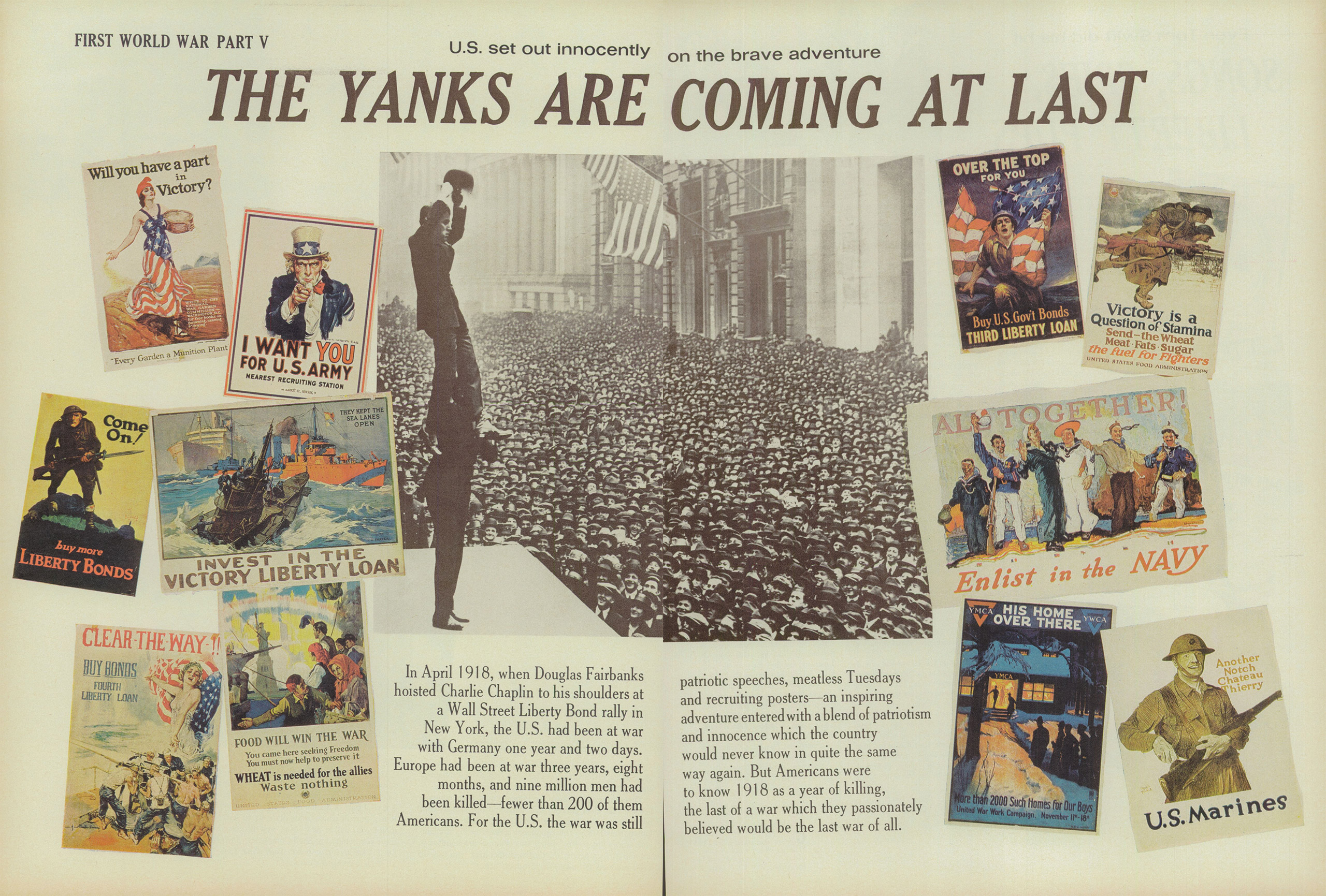 Part V of the First World War series in LIFE magazine from the May 22, 1964 issue.