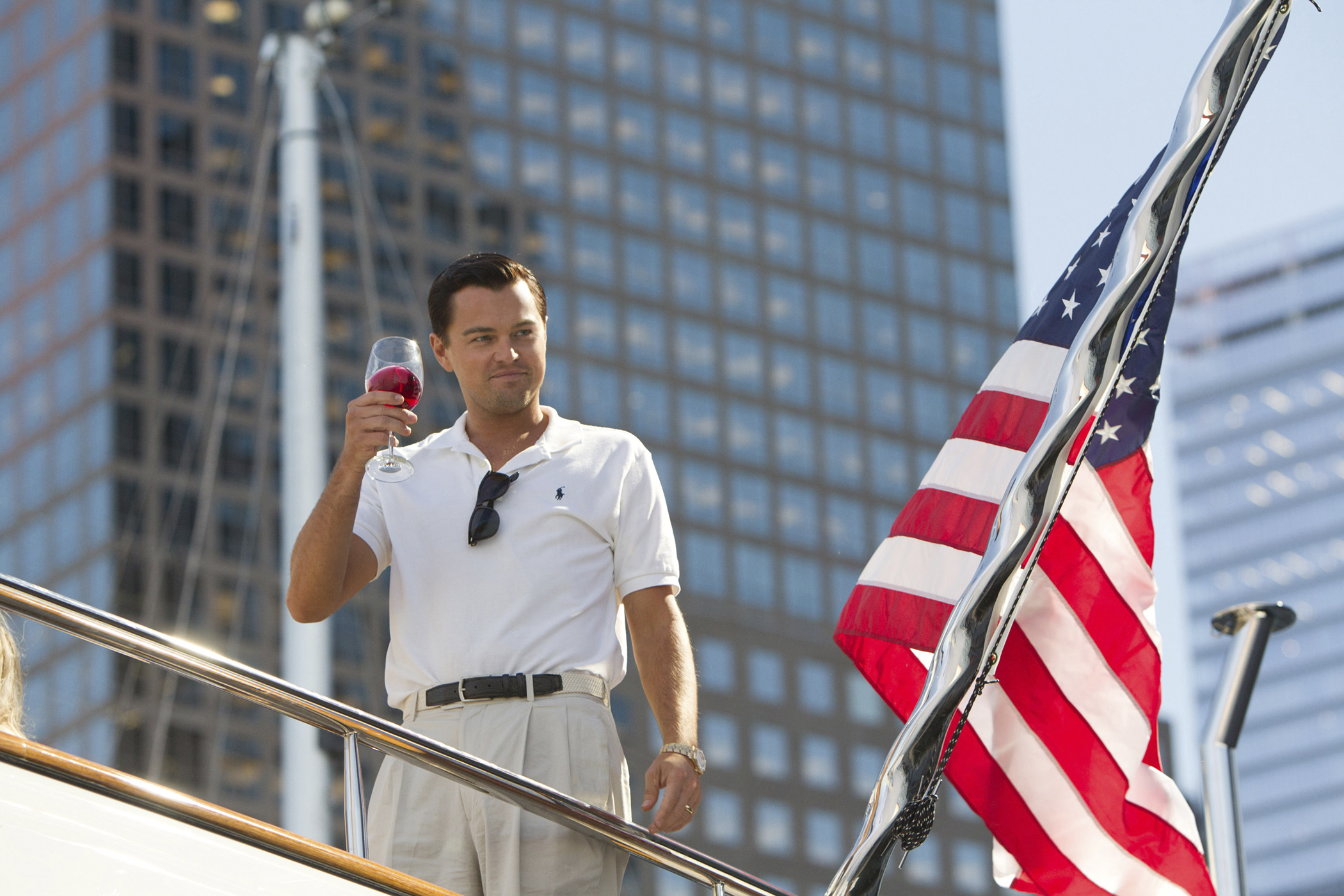 Leonardo DiCaprio in <i>The Wolf of Wall Street</i>