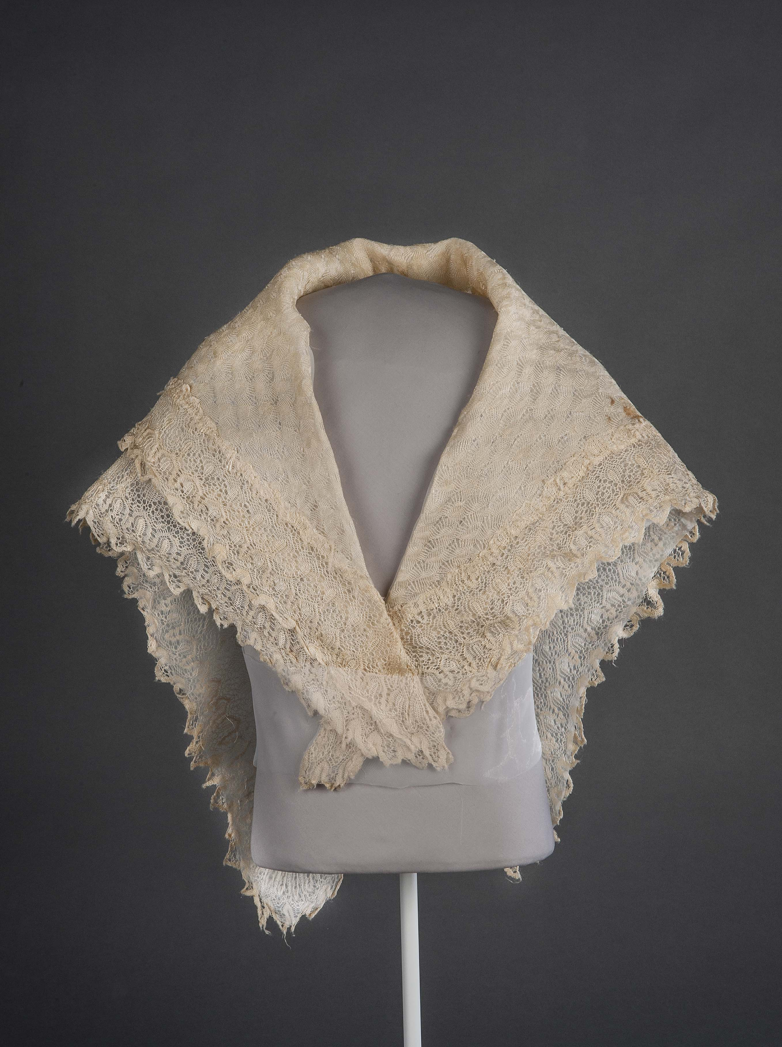 Lace shawl given to Harriet Tubman by Queen Victoria, ca. 1897.                     2009.50.39