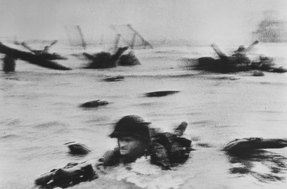 FRANCE. Normandy. June 6th, 1944. US troops assault Omaha Beach during the D-Day landings (first assault).