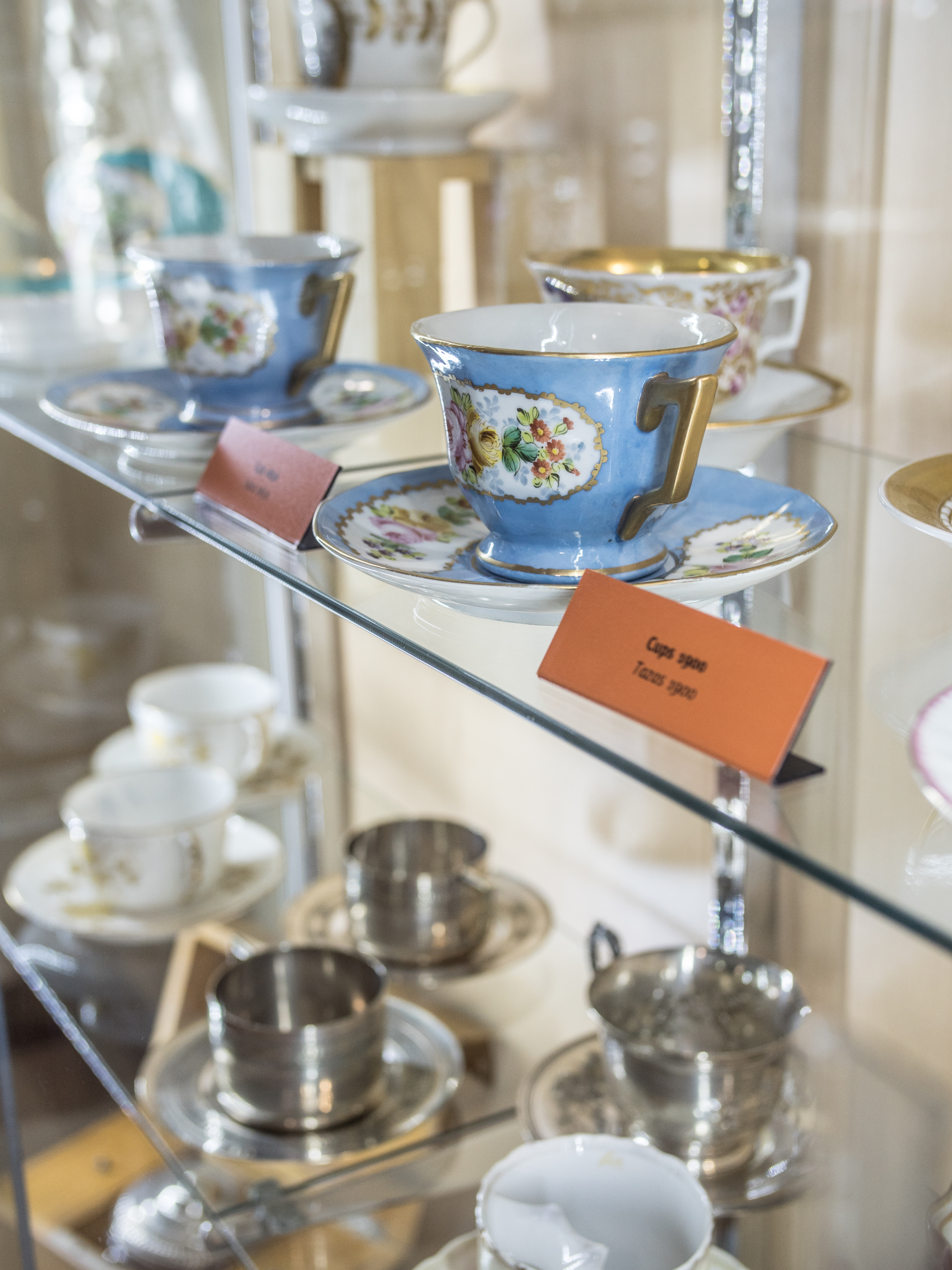 When Europeans adopted chocolate for drinking, they also developed decorative cups and saucers.