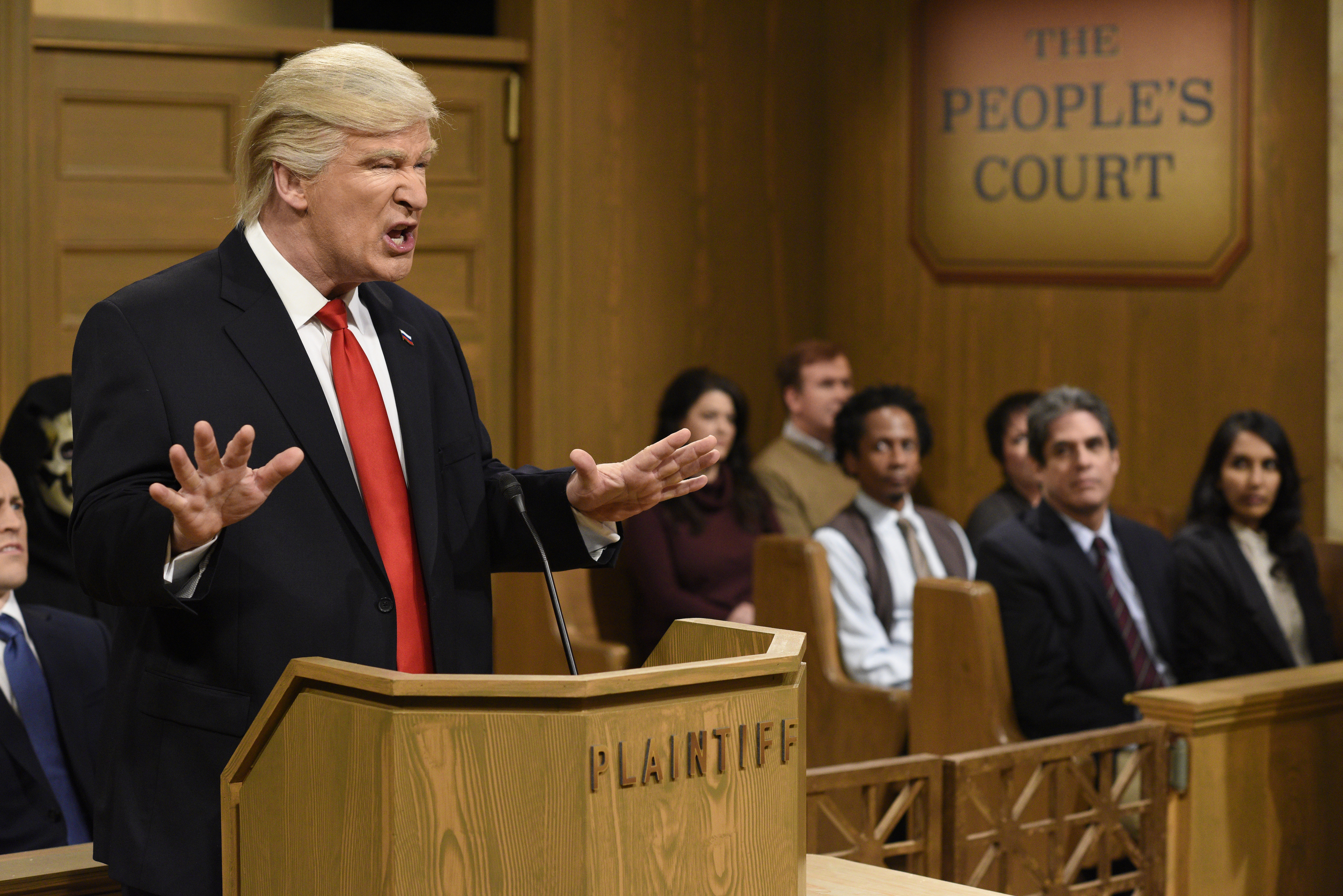Alec Baldwin as President Donald Trump for Saturday Night LIve on February 11, 2017.