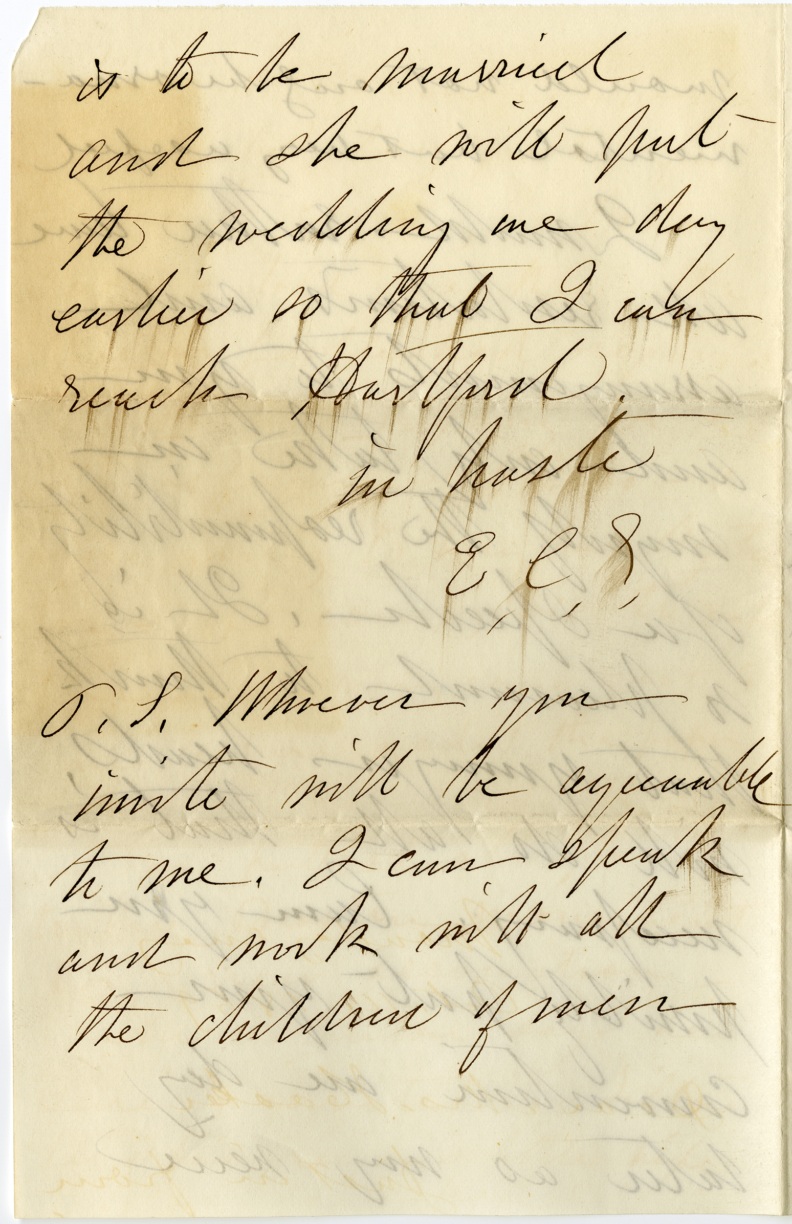 The 4th page of a letter from Susan B. Anthony to Isabella Beecher Hooker