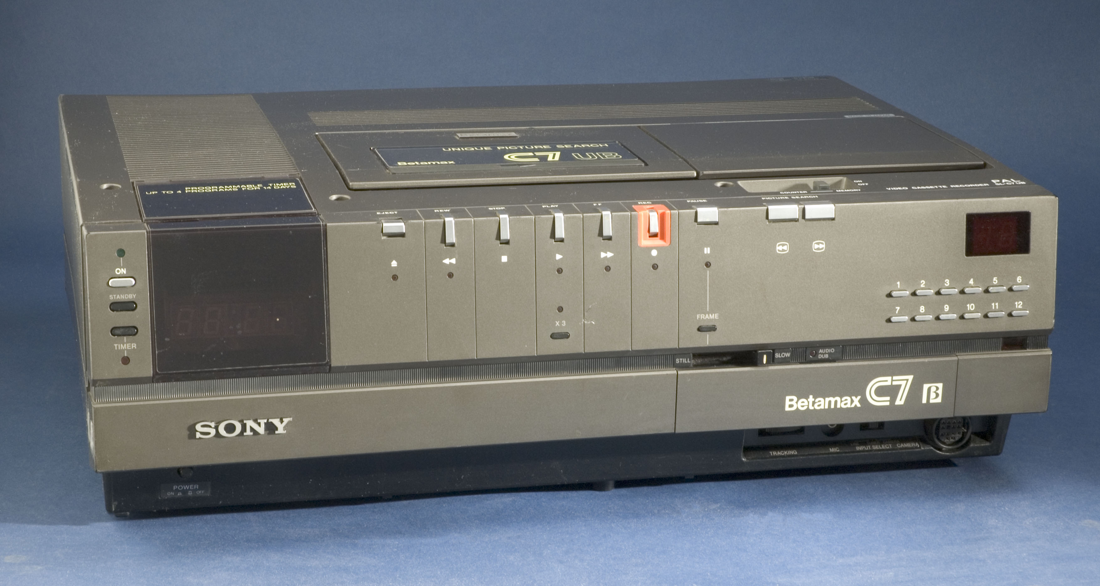 Detail of a Sony Betamax SL-C7 machine, c 1980