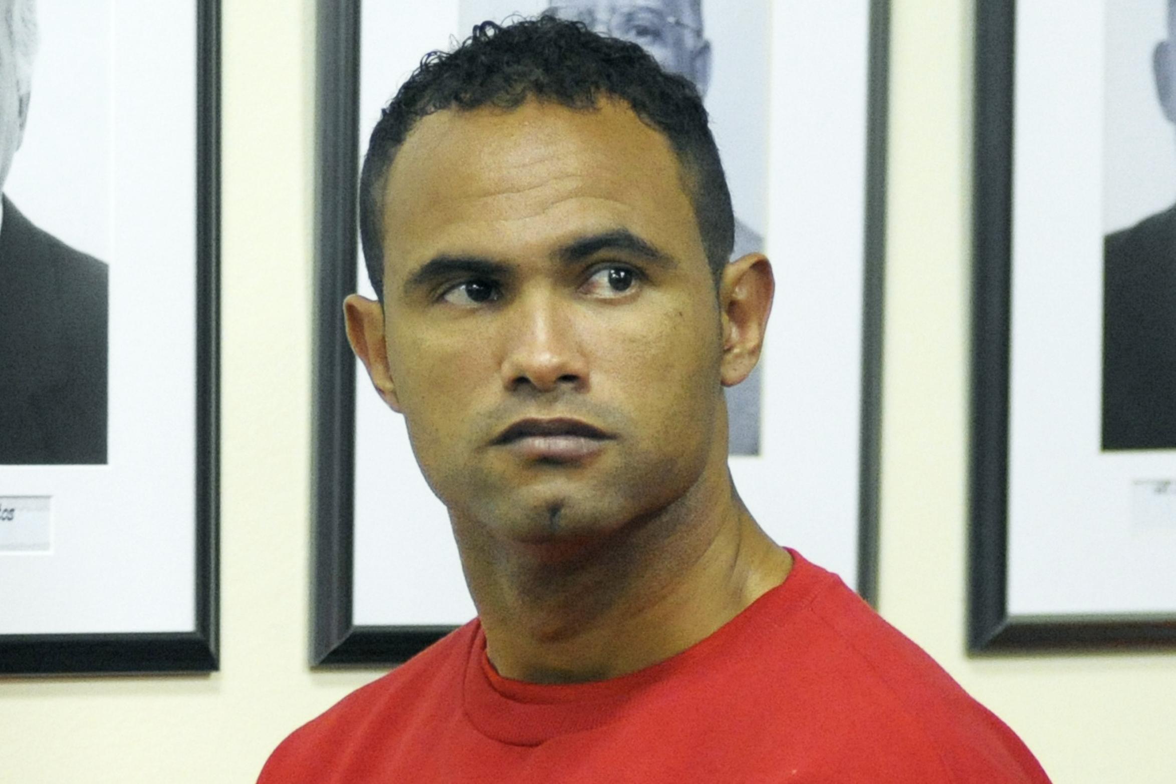 Bruno Fernandes de Souza, during his trial in Contagem, Minas Gerais, Brazil, on Nov. 20, 2012.