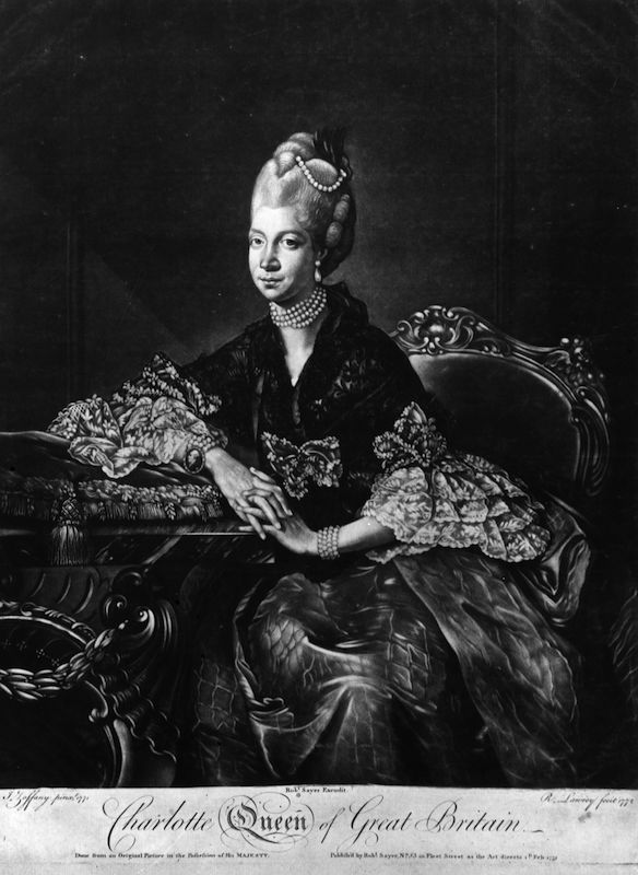 Charlotte Sophia (1744 - 1818), Queen of Great Britain and wife of King George III.