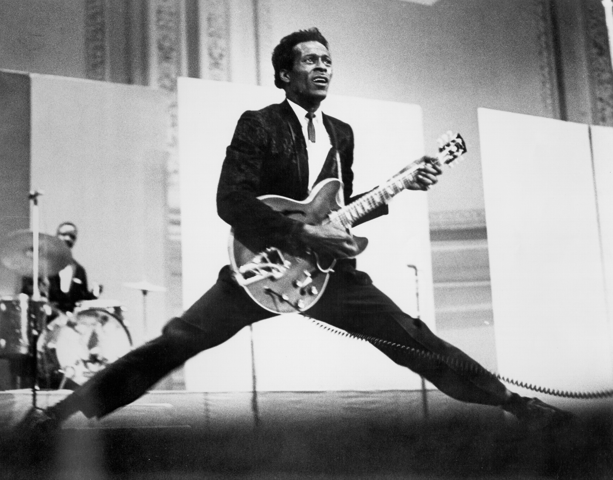 Chuck Berry performs c. 1968.