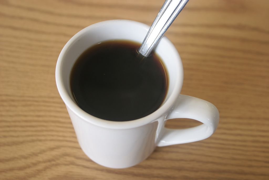 A cup of black coffee at a diner on March 25, 2007 in Florida, NY.