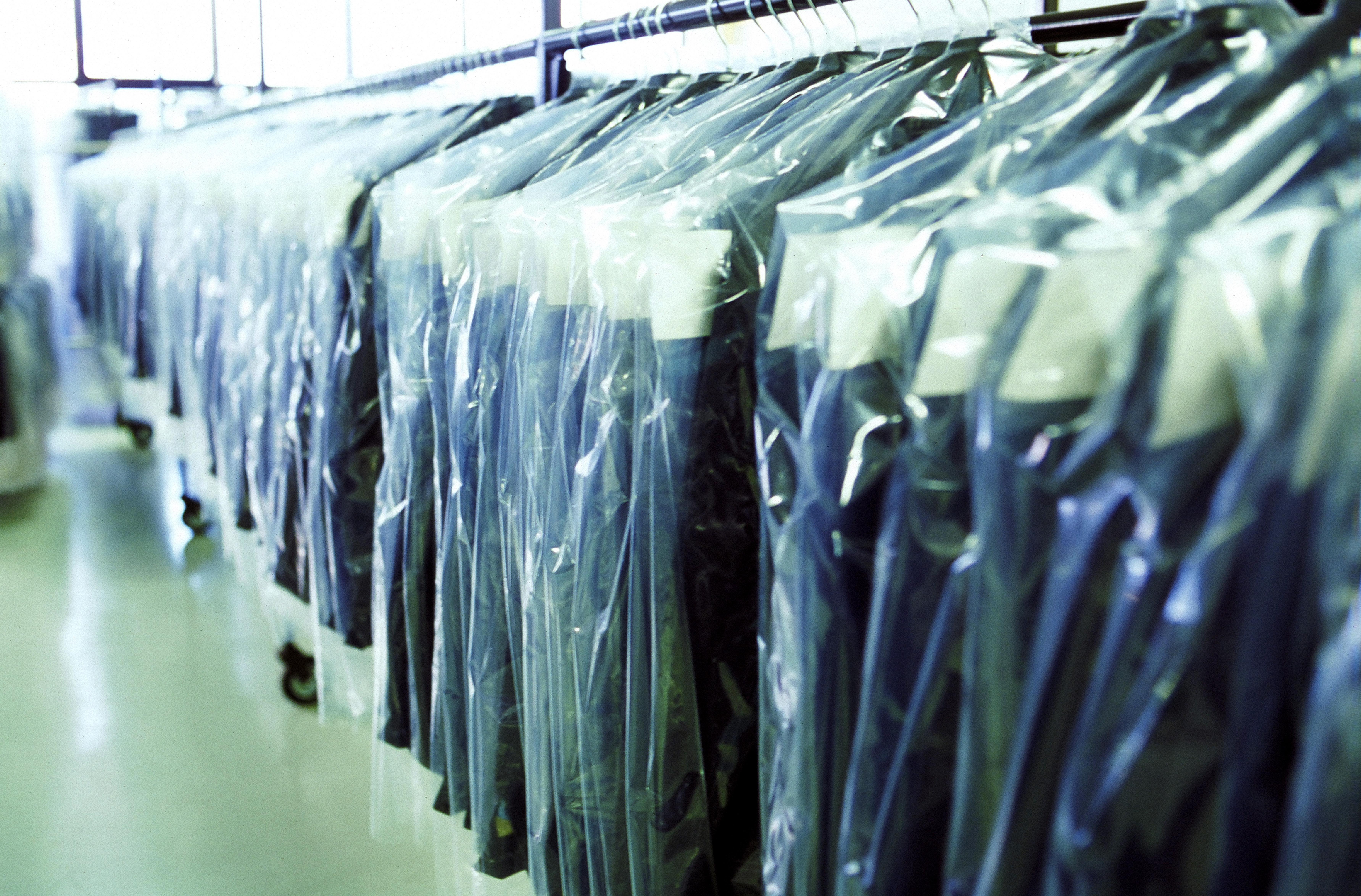 Racks of clothing