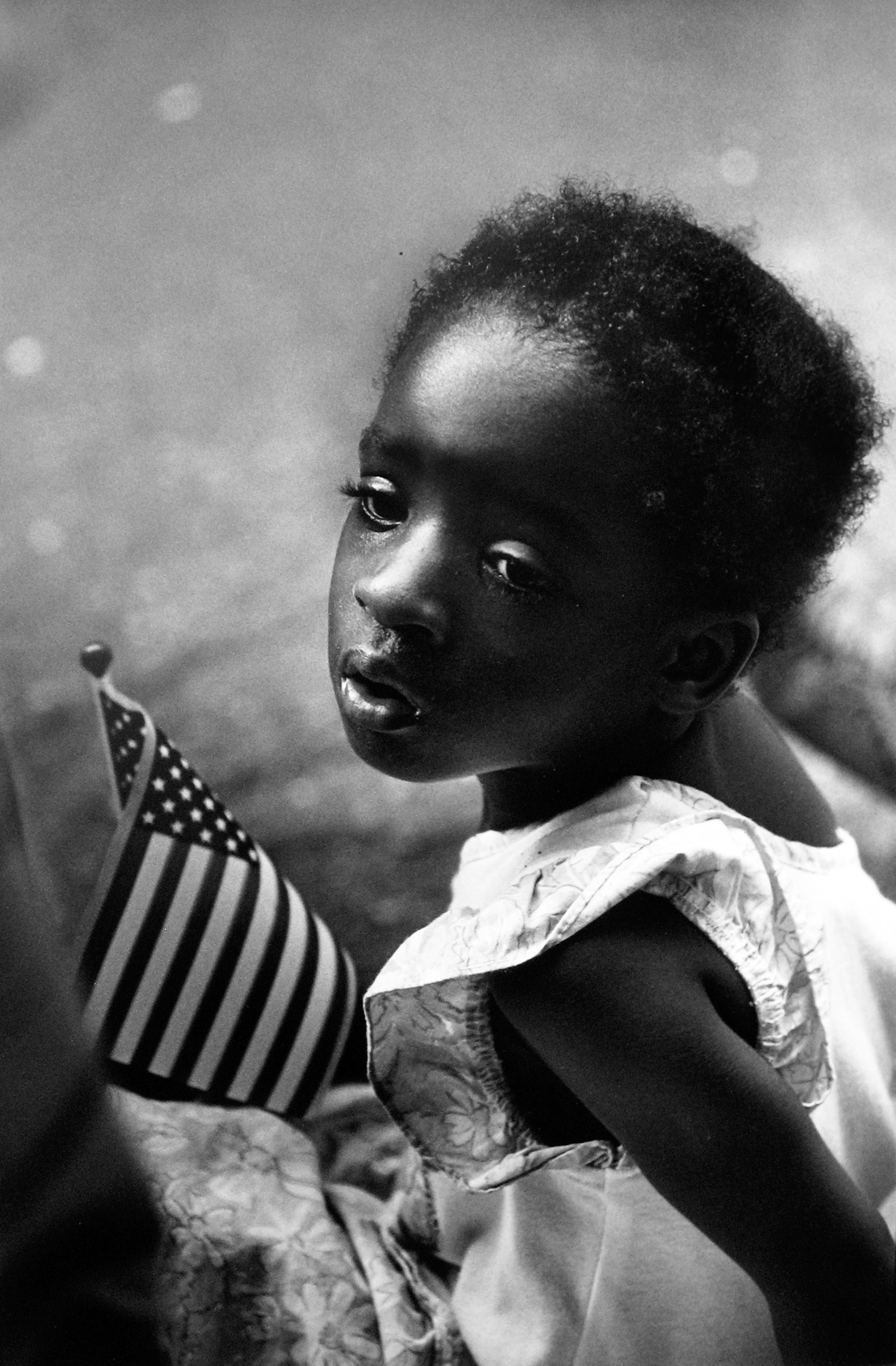 Girl with Flag, 3rd Ward, Houston, 1991
