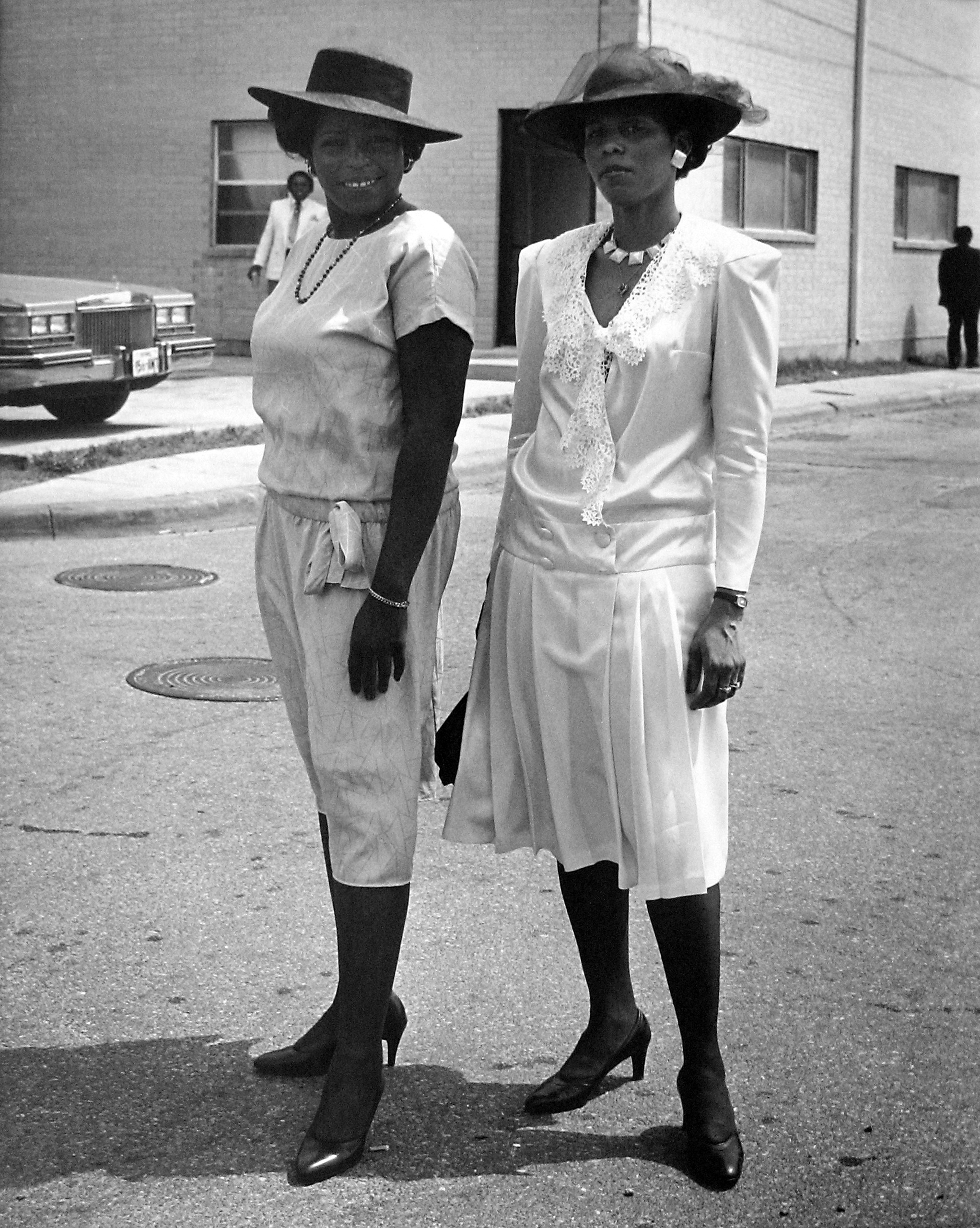 Two Sisters,                               Easter Sunday, 4th Ward, Houston, TX, 1983