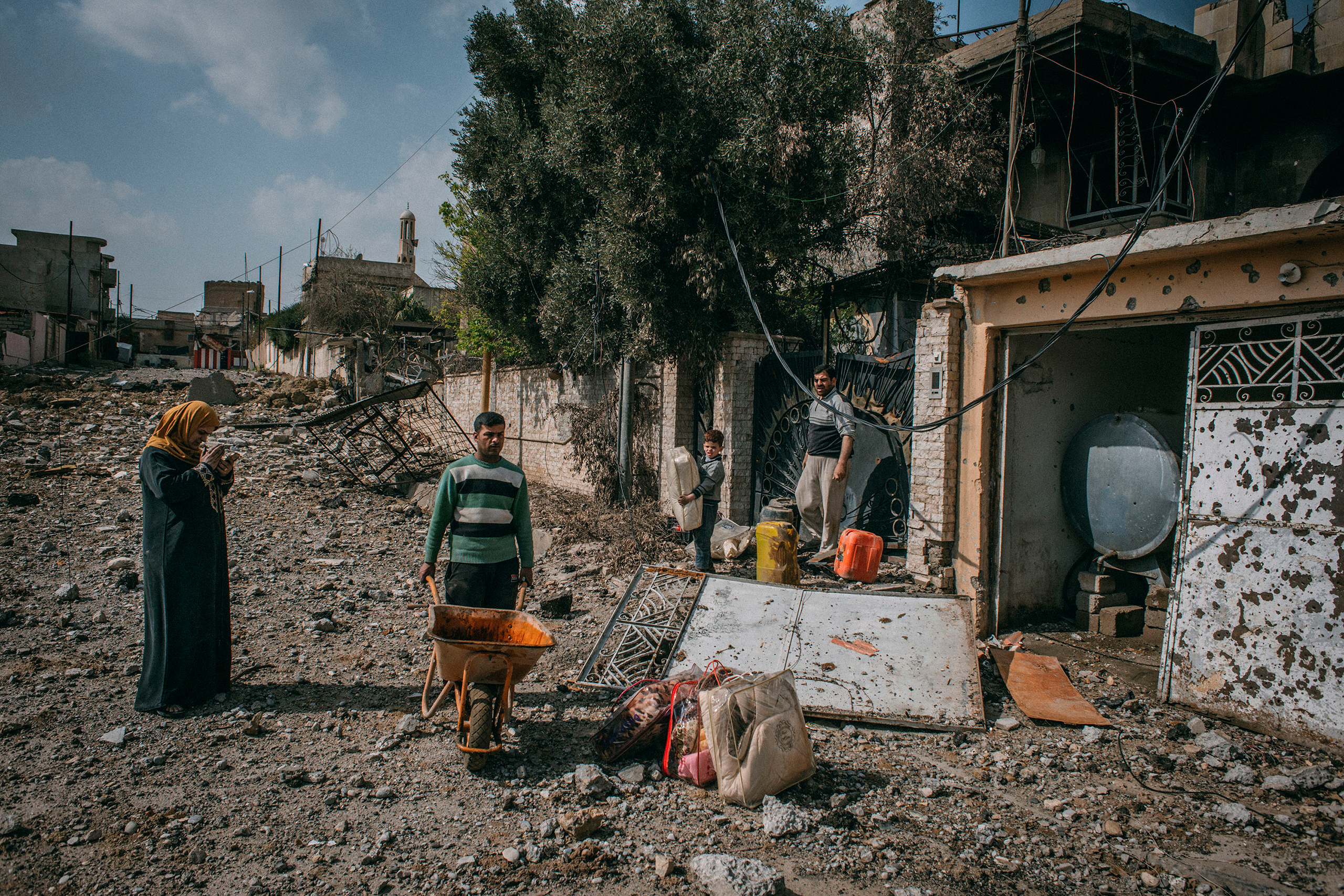 The home of Median Hikmat al-Galou was destroyed during fighting between Iraqi forces and ISIS in southwest Mosul in February 2017.