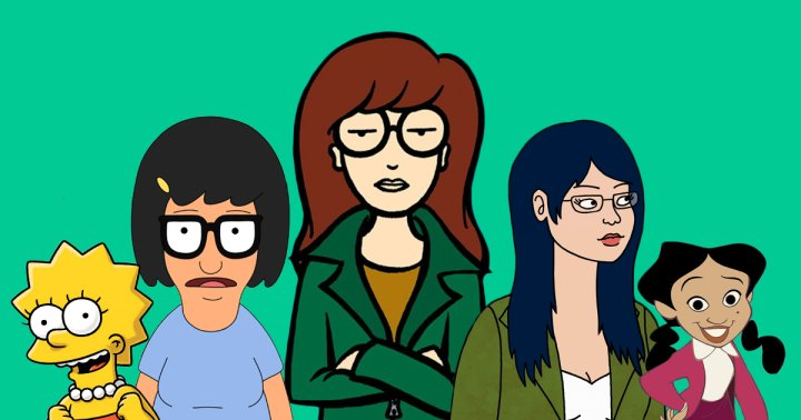 black and white cartoon characters names daria's birthday: the  best female tv cartoon characters