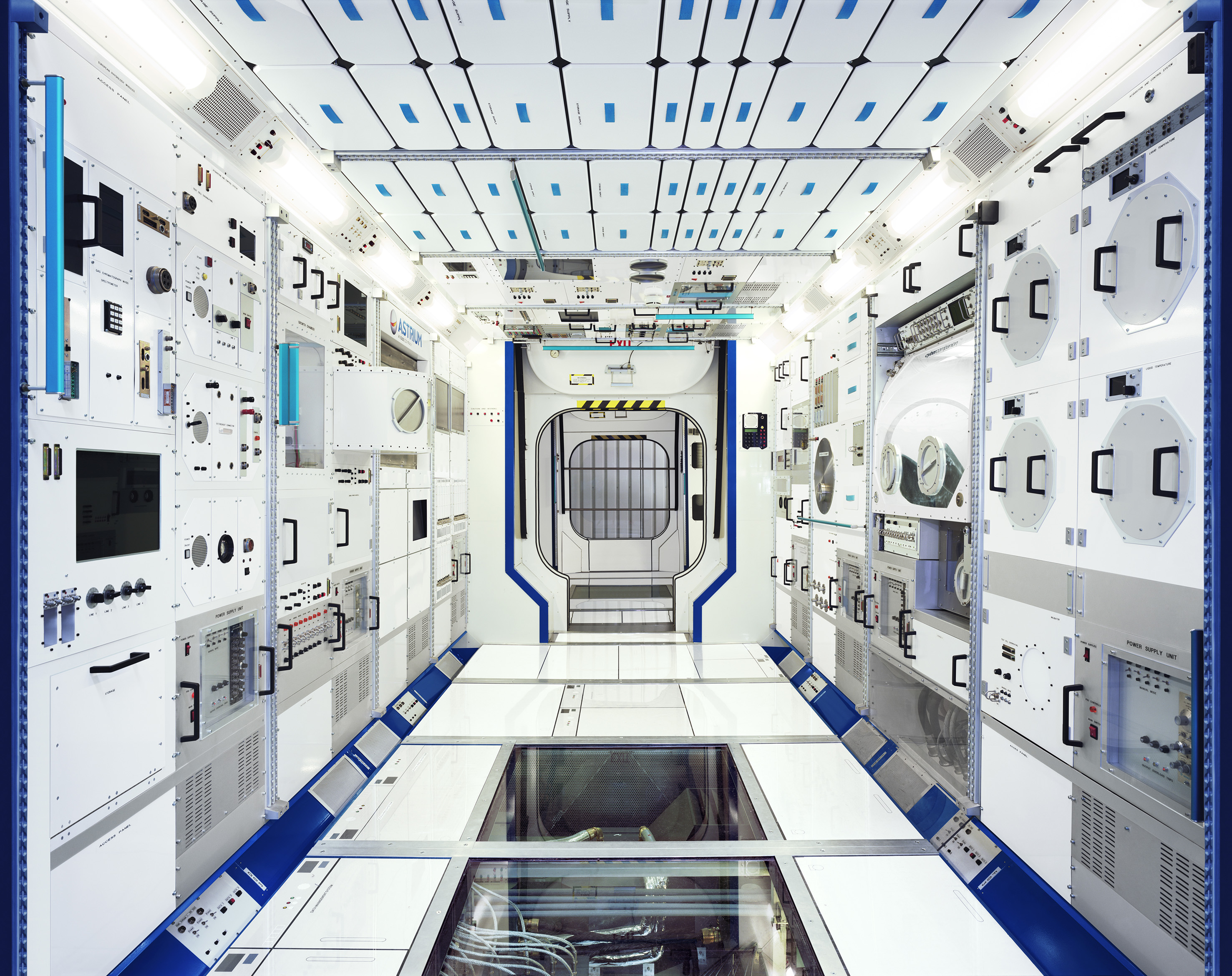 Full-scale model of an International Space Station module.