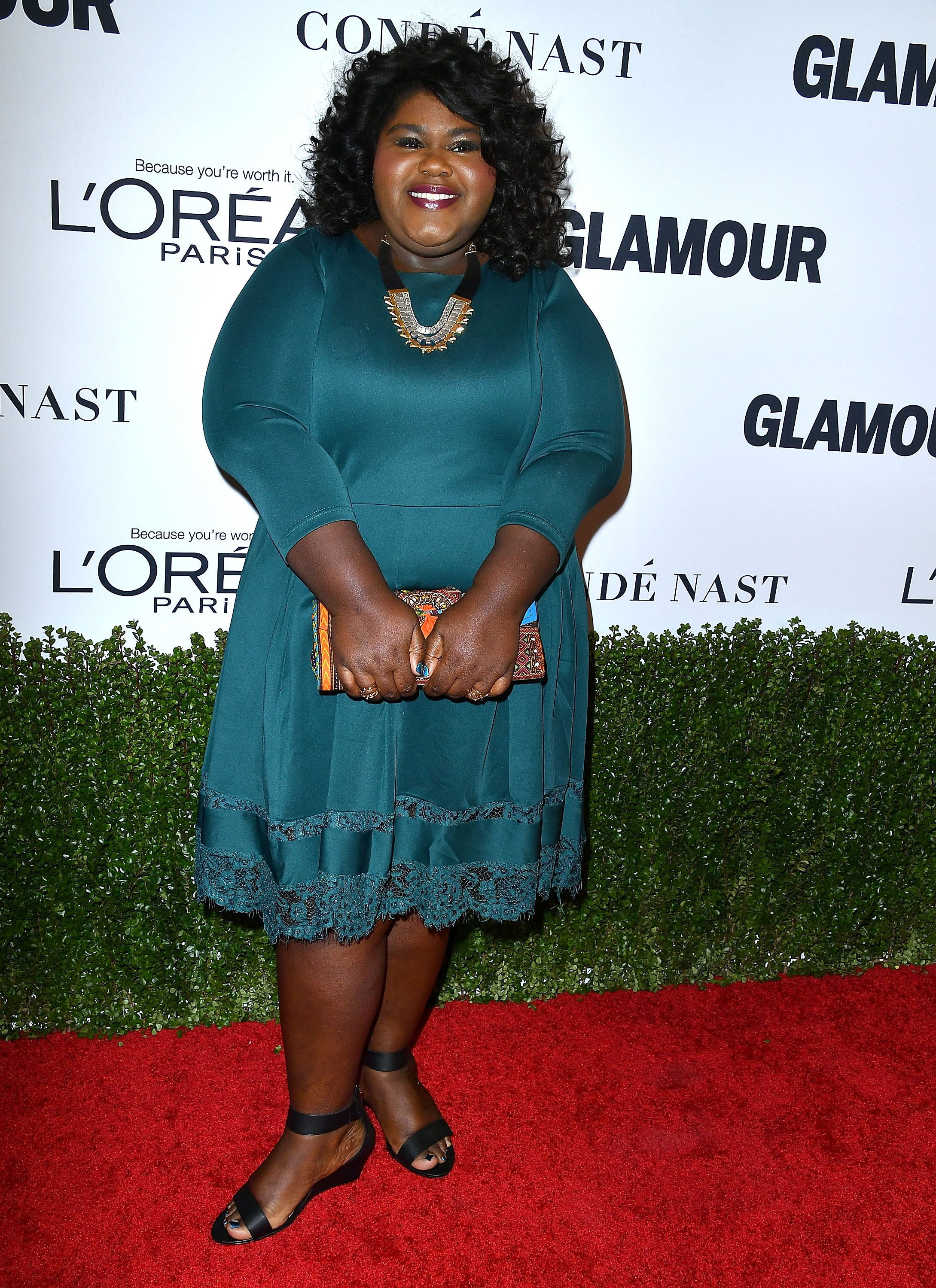 LOS ANGELES, CA - NOVEMBER 14: Gabourey Sidibe arrives at the Glamour Women Of The Year 2016 at NeueHouse Hollywood on November 14, 2016 in Los Angeles, California. (Photo by Steve Granitz/WireImage)