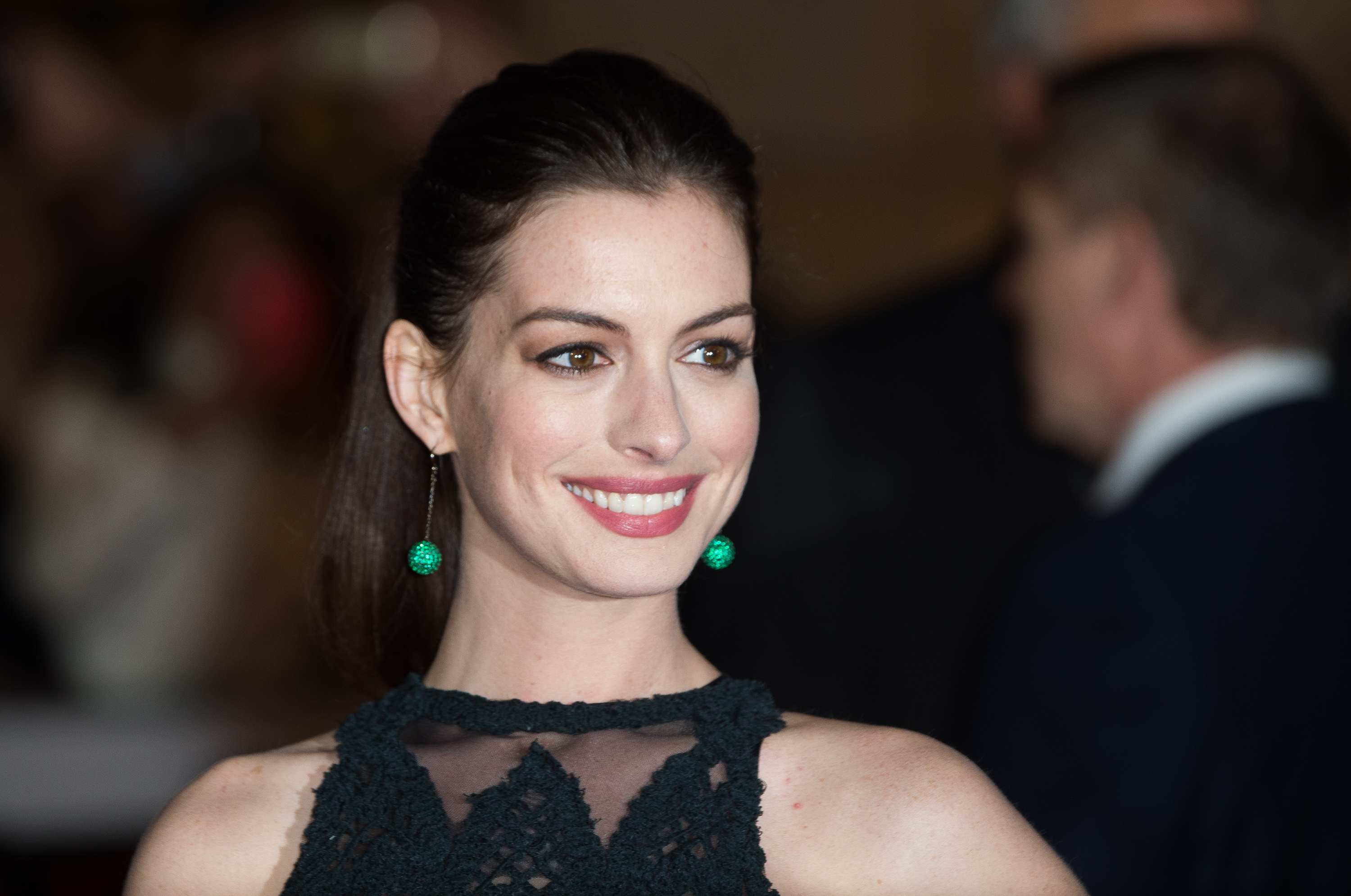nne Hathaway attends the UK Premiere of  The Intern  at Vue West End on September 27, 2015 in London, England.