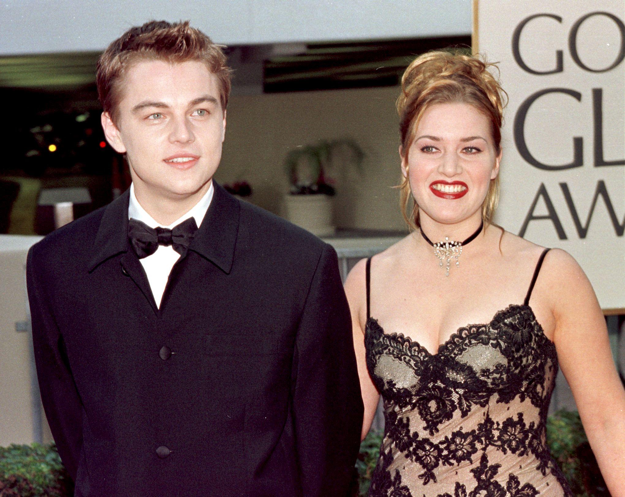 Leonardo DiCaprio at the Golden Globe Awards in 1998.
