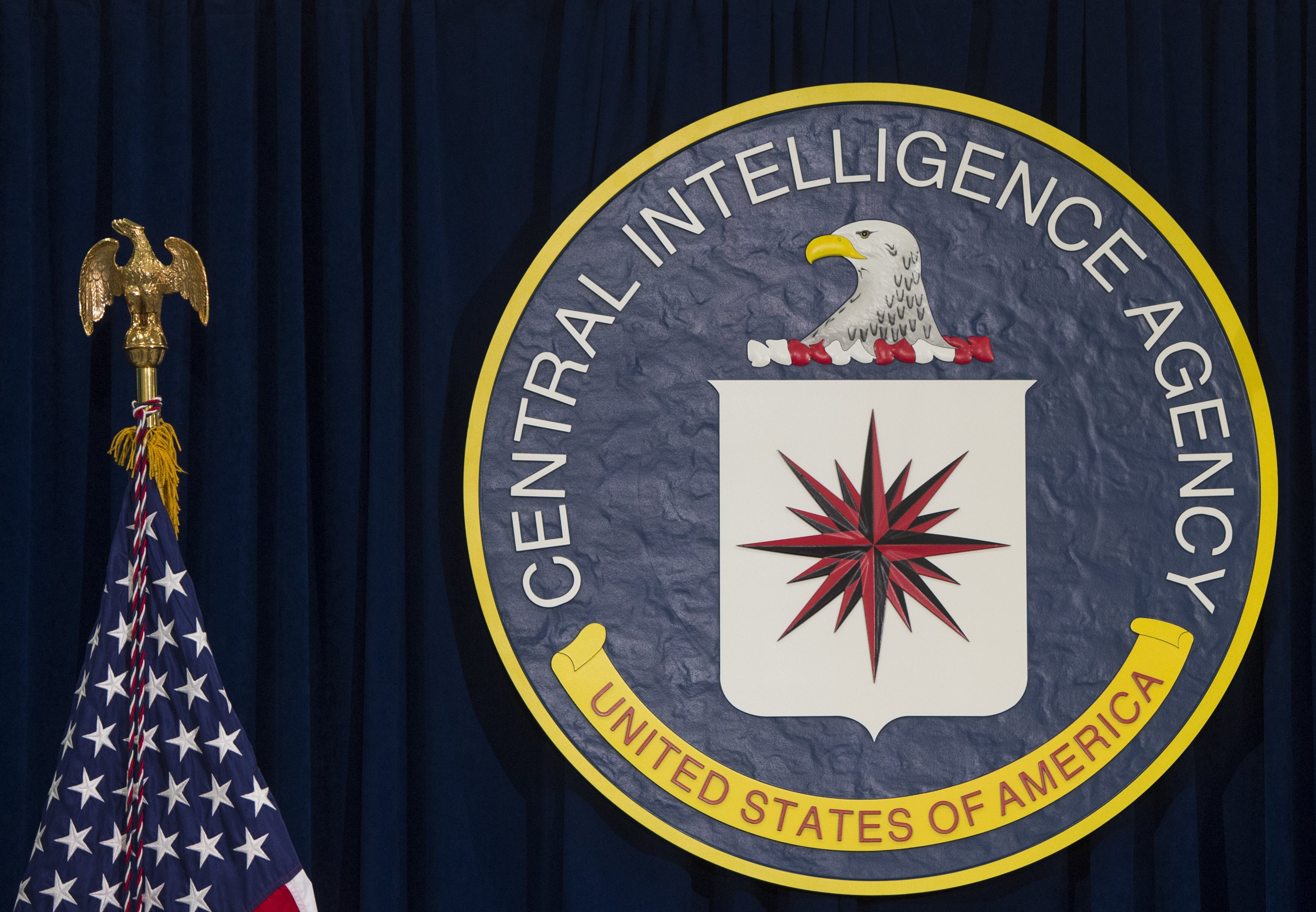 The logo of the Central Intelligence Agency (CIA) is seen at CIA Headquarters in Langley, Virginia, April 13, 2016.