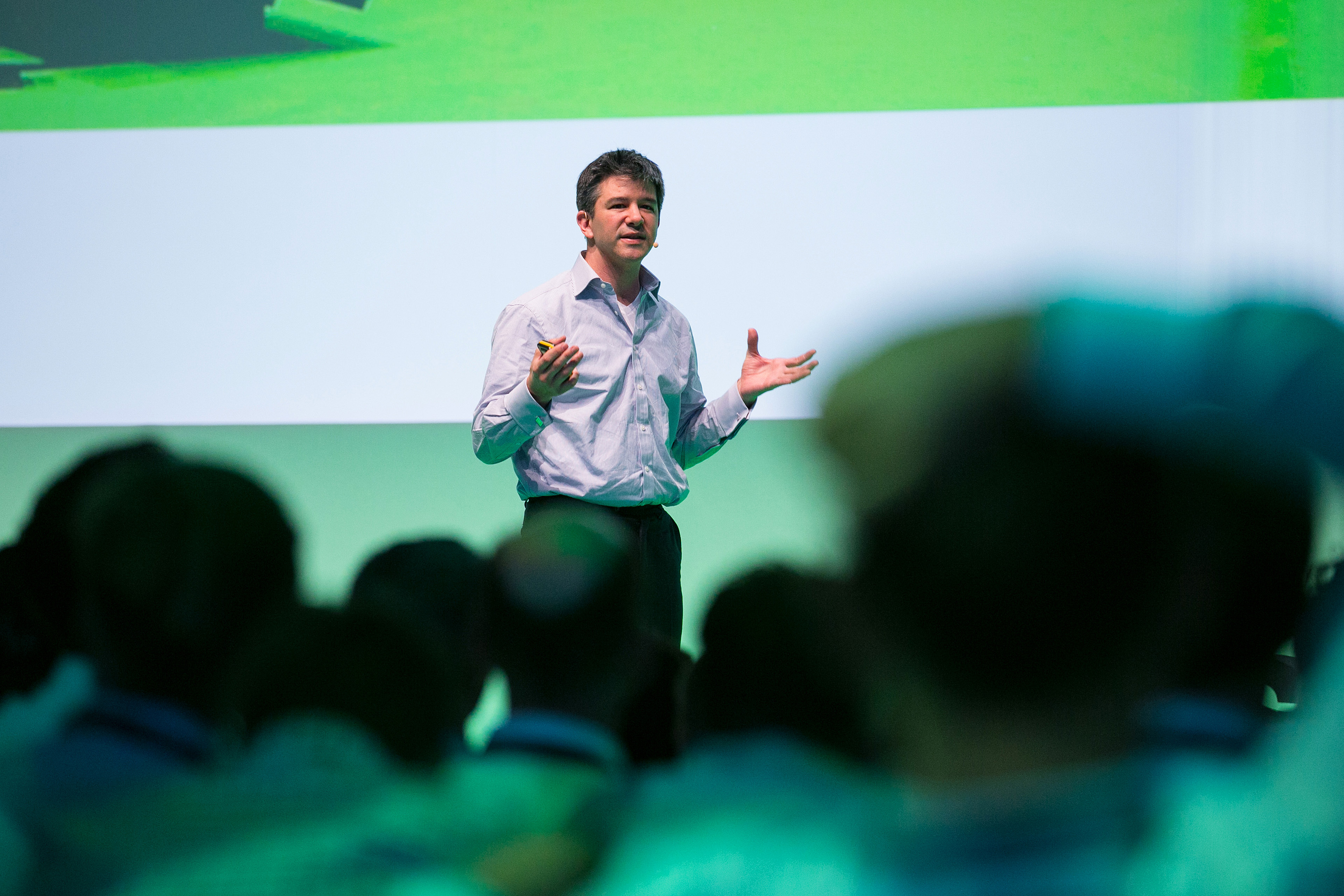 Travis Kalanick, billionaire and chief executive officer of Uber Technologies Inc., speaks during the Noah technology conference in Berlin, Germany, on Wednesday, June 8, 2016.