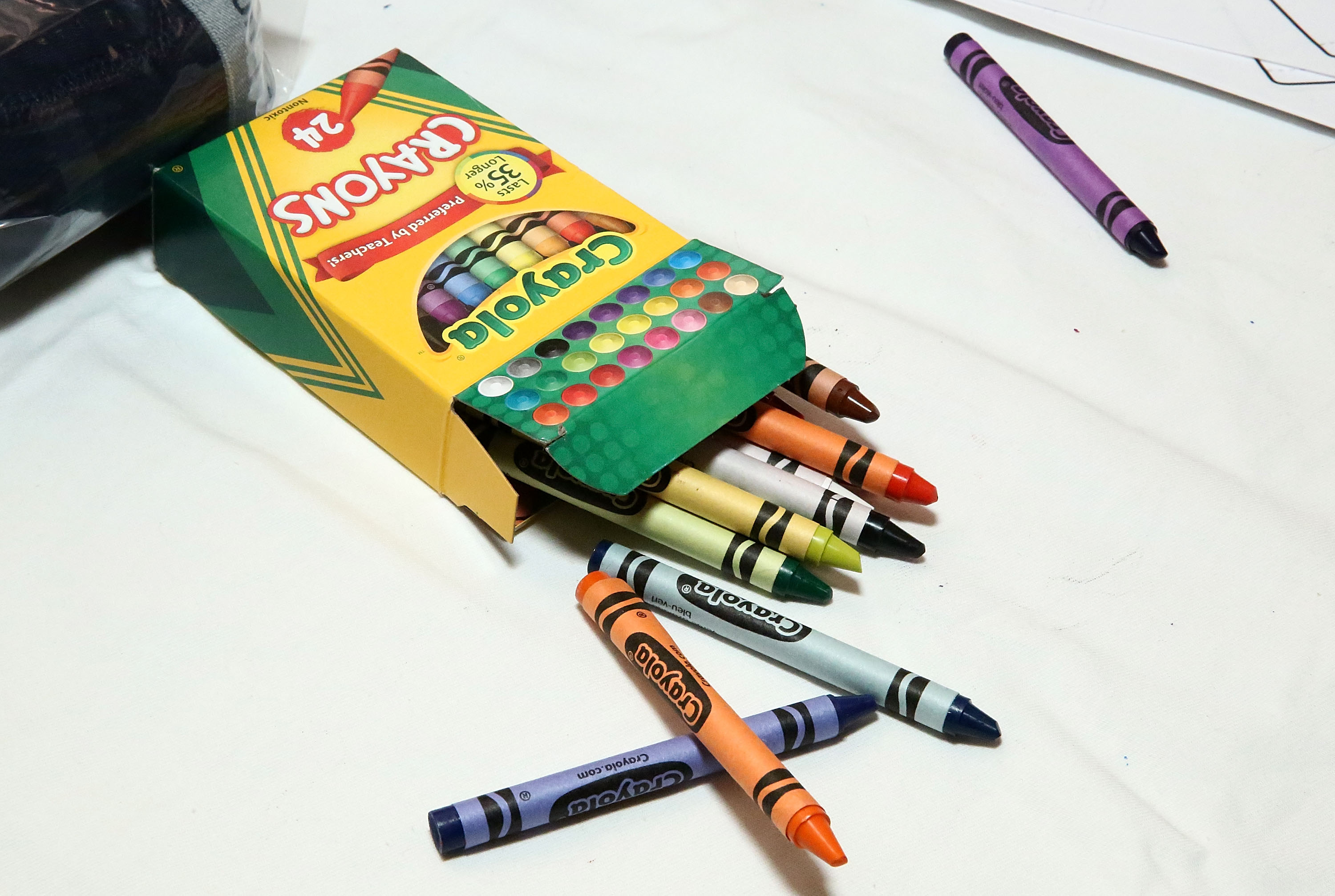 Crayola crayons are displayed at The MOMS & New York Family Magazine Cover Party at 100 Barclay on August 16, 2016 in New York City.