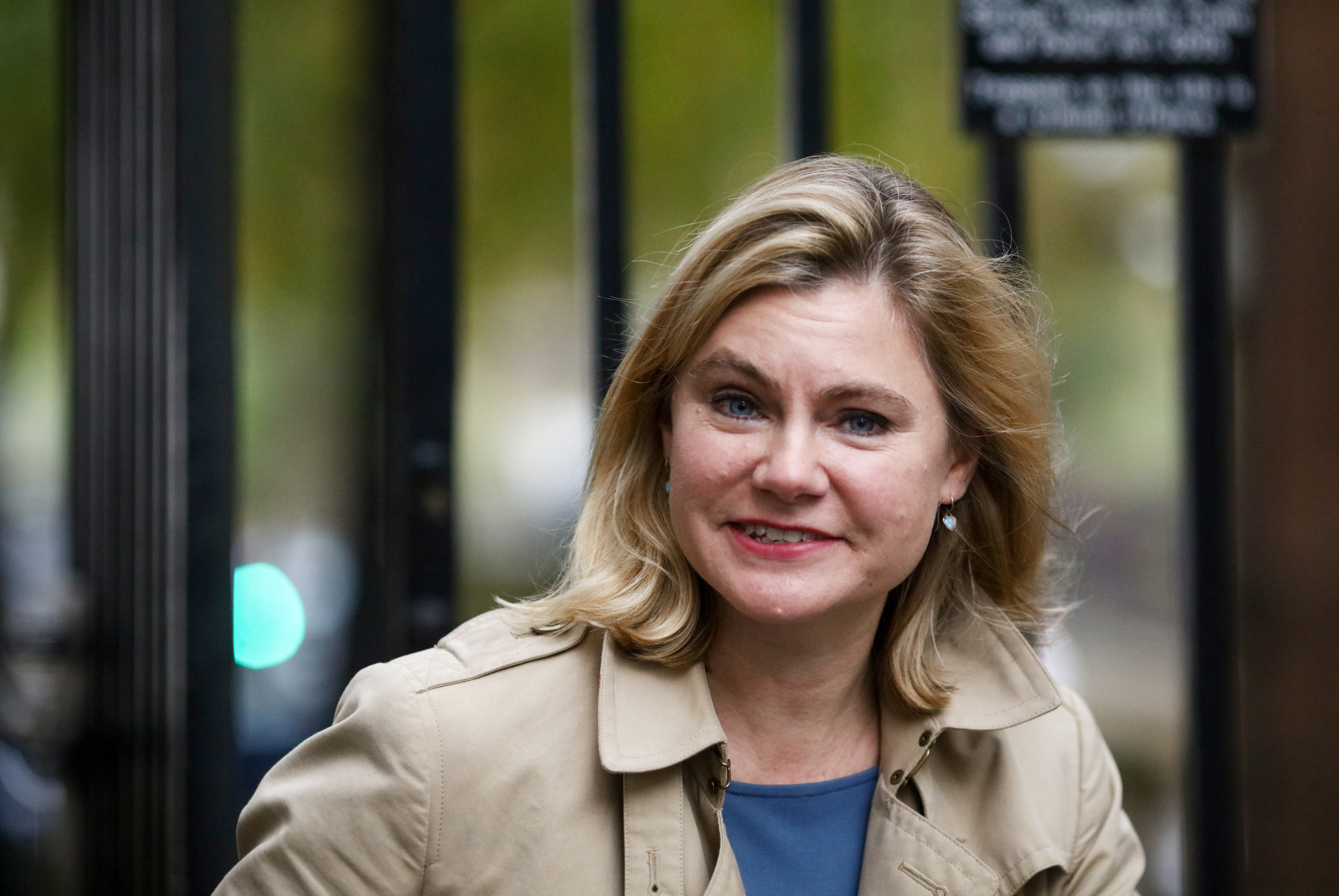 Justine Greening, U.K. education secretary, arrives to attend the weekly cabinet meeting at Downing Street in London, U.K., on Tuesday, Nov. 15, 2016.
