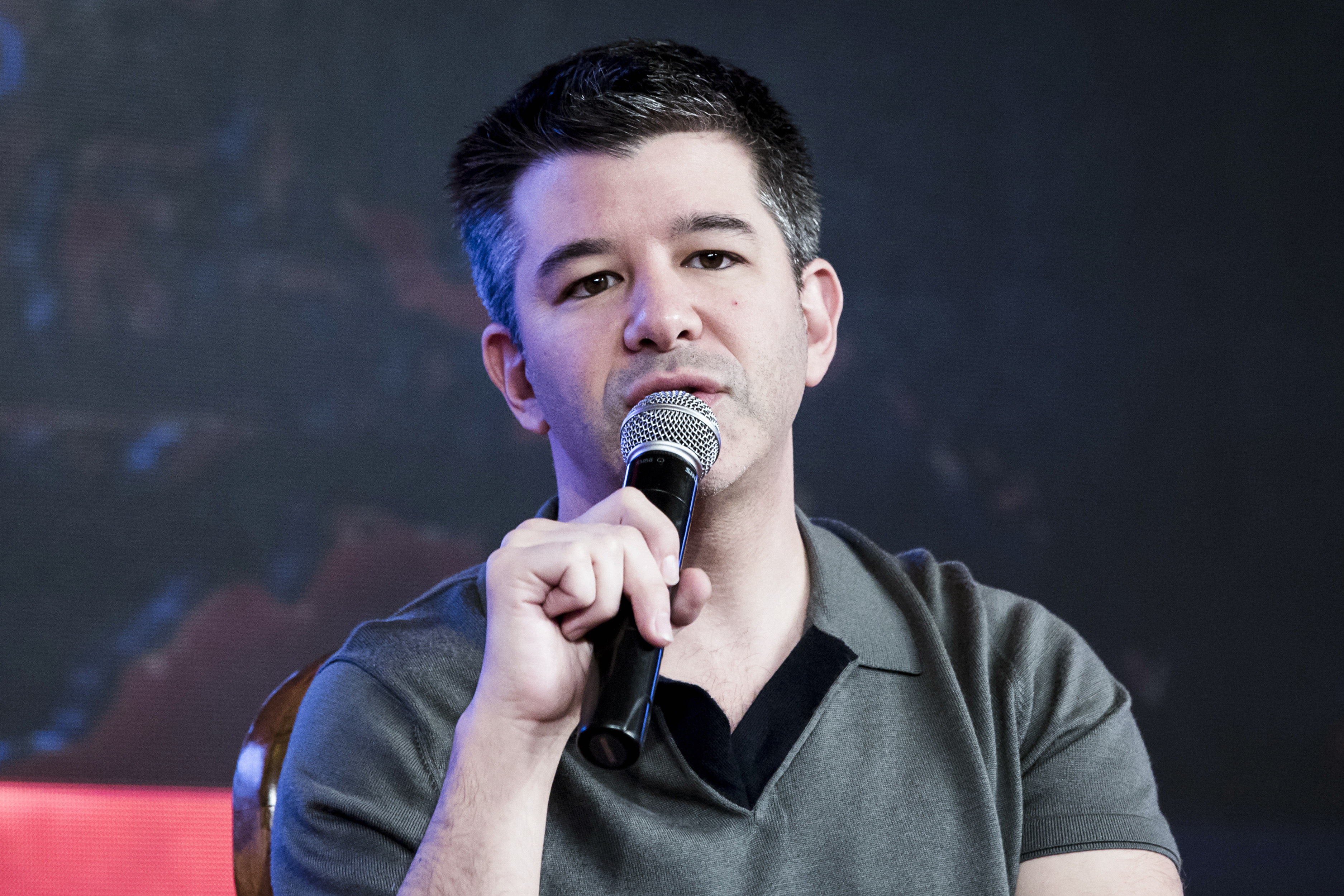 Travis Kalanick, co-founder and chief executive officer of Uber Technologies Inc., speaks during th TiE Global Entrepeneurs Summit in New Delhi, India, on Friday, Dec. 16, 2016.