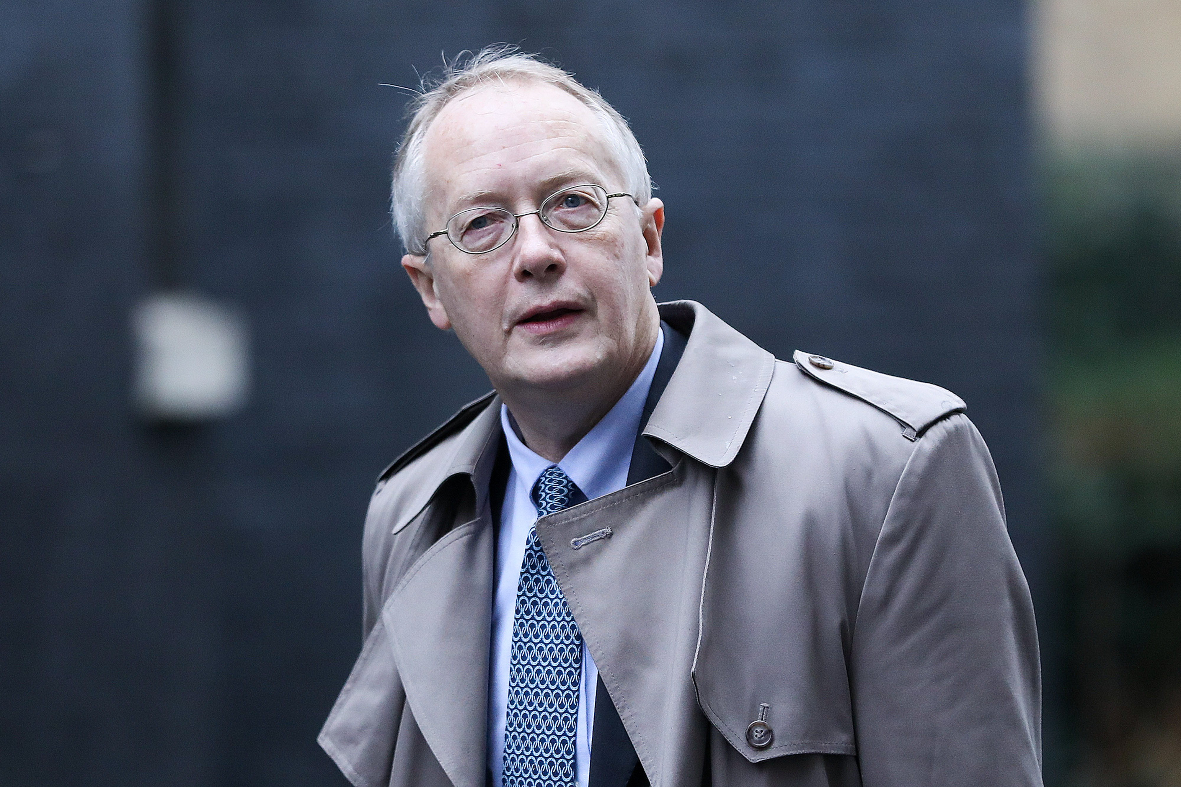 Myron Ebell, former head of U.S. President Donald Trump's EPA transition team, arrives at 10 Downing Street in London, U.K., on Jan. 31.