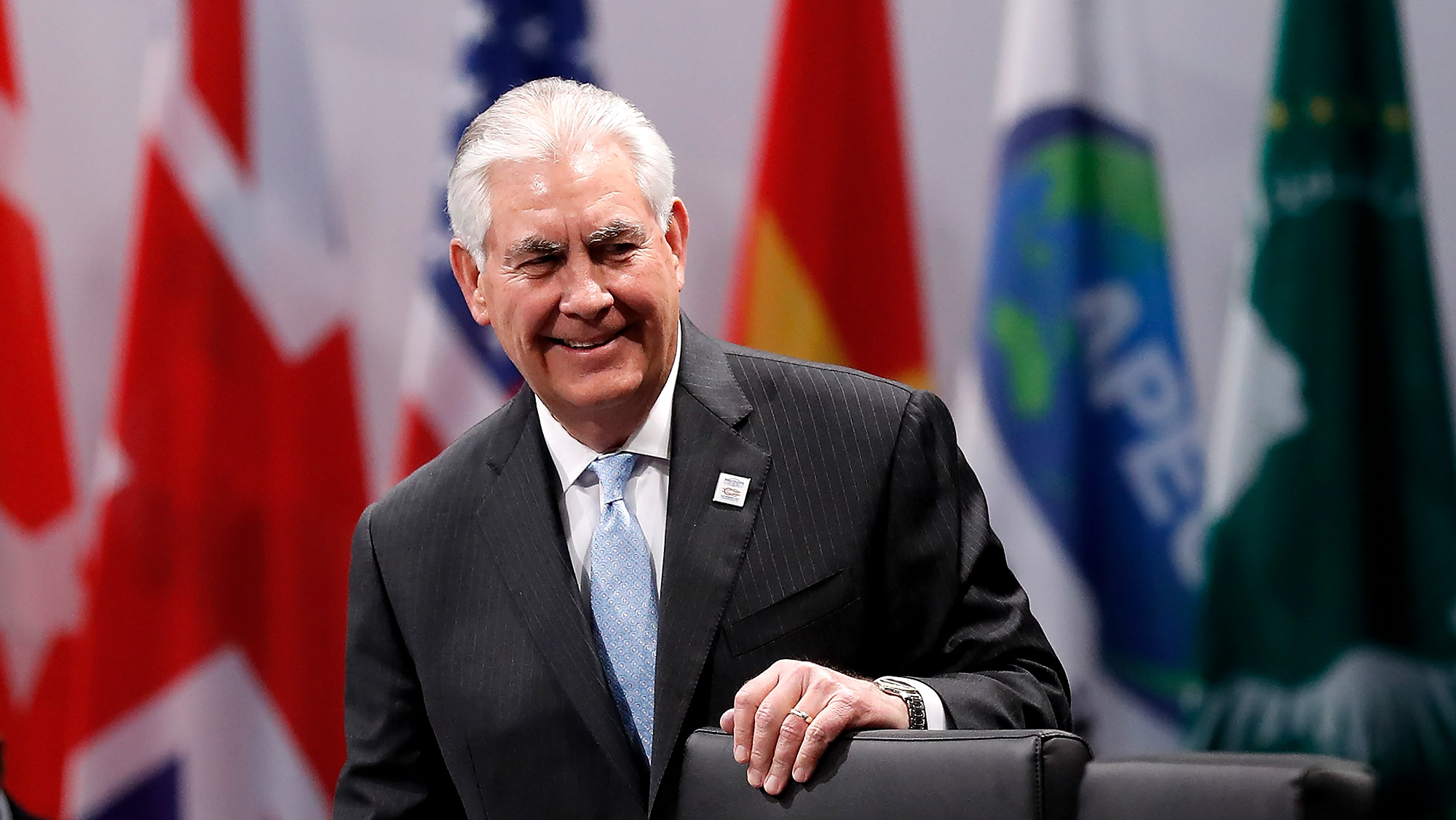 U.S. Secretary of State Rex Tillerson attends the opening session at the World Conference Center Bonn (WCCB) on February 16, 2017 in Bonn, Germany.