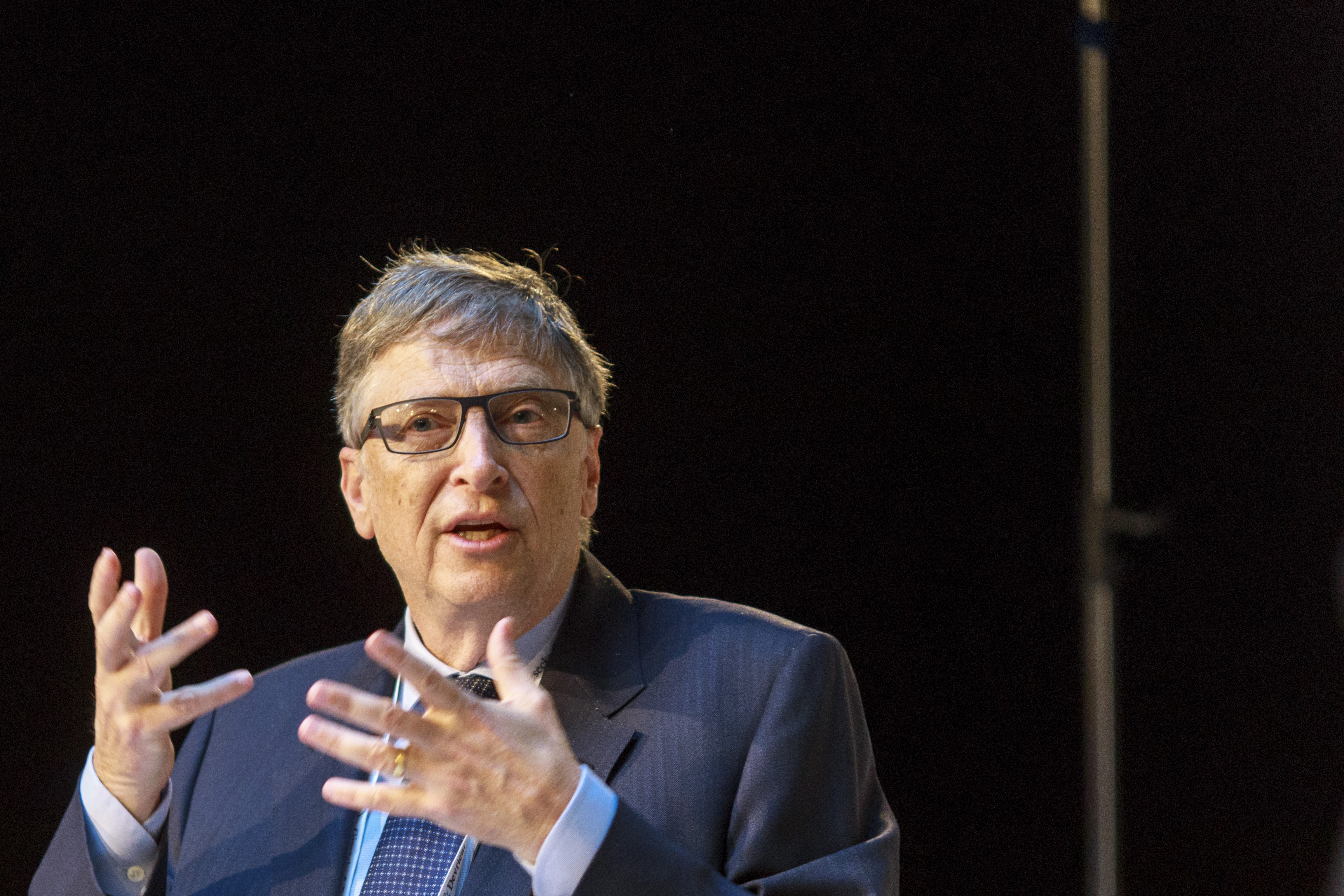 Bill Gates at Munich Security Conference on February 17, 2017 in Munich, Germany.
