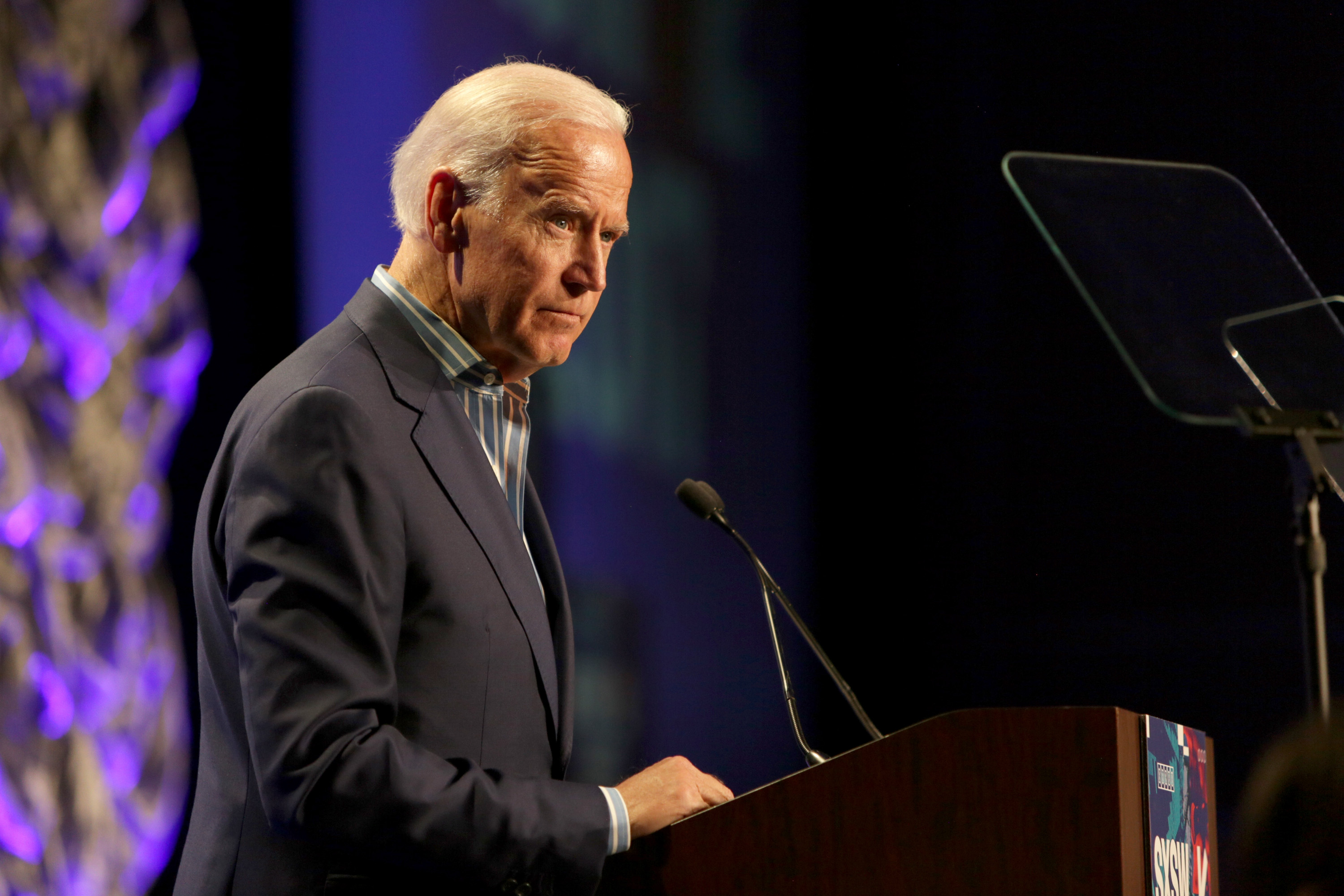 AUSTIN, TX - MARCH 12:  Vice President Joe Biden speaks onstage at  The Urgency Of Now: Launching The Biden Cancer Initiative' during 2017 SXSW Conference and Festivals at Austin Convention Center on March 12, 2017 in Austin, Texas.  (Photo by Mindy Best/Getty Images for SXSW)