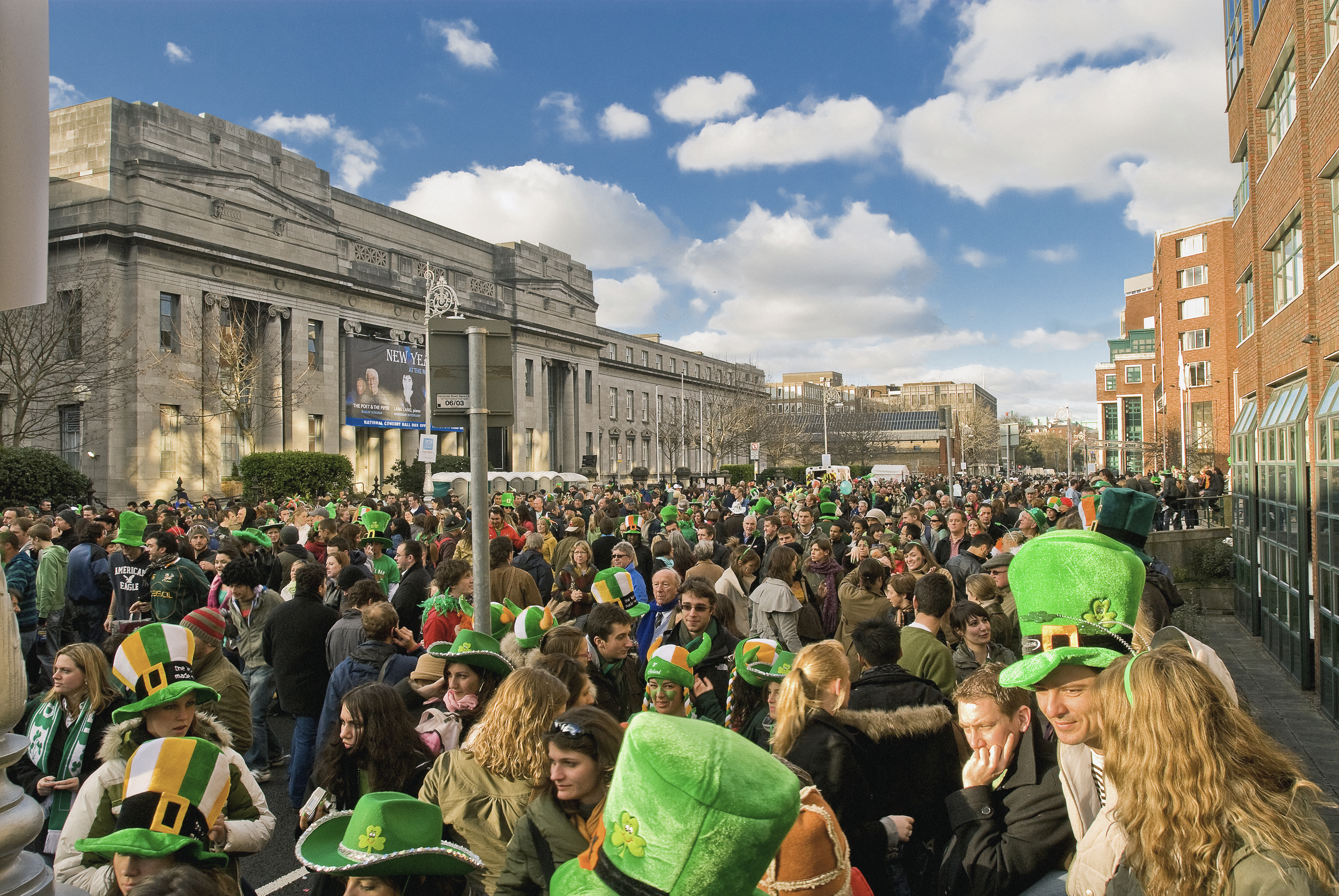 The St. Patrick's Day Parade in Dublin, Ireland.