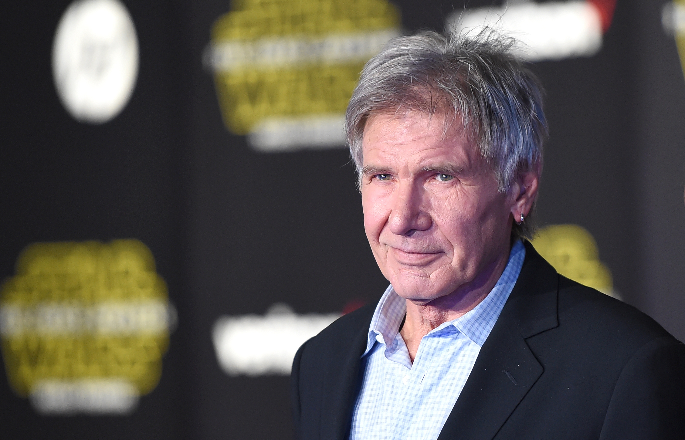 Actor Harrison Ford attends the Premiere of Walt Disney Pictures and Lucasfilm's 'Star Wars: The Force Awakens' on December 14, 2015 in Hollywood, Calif.