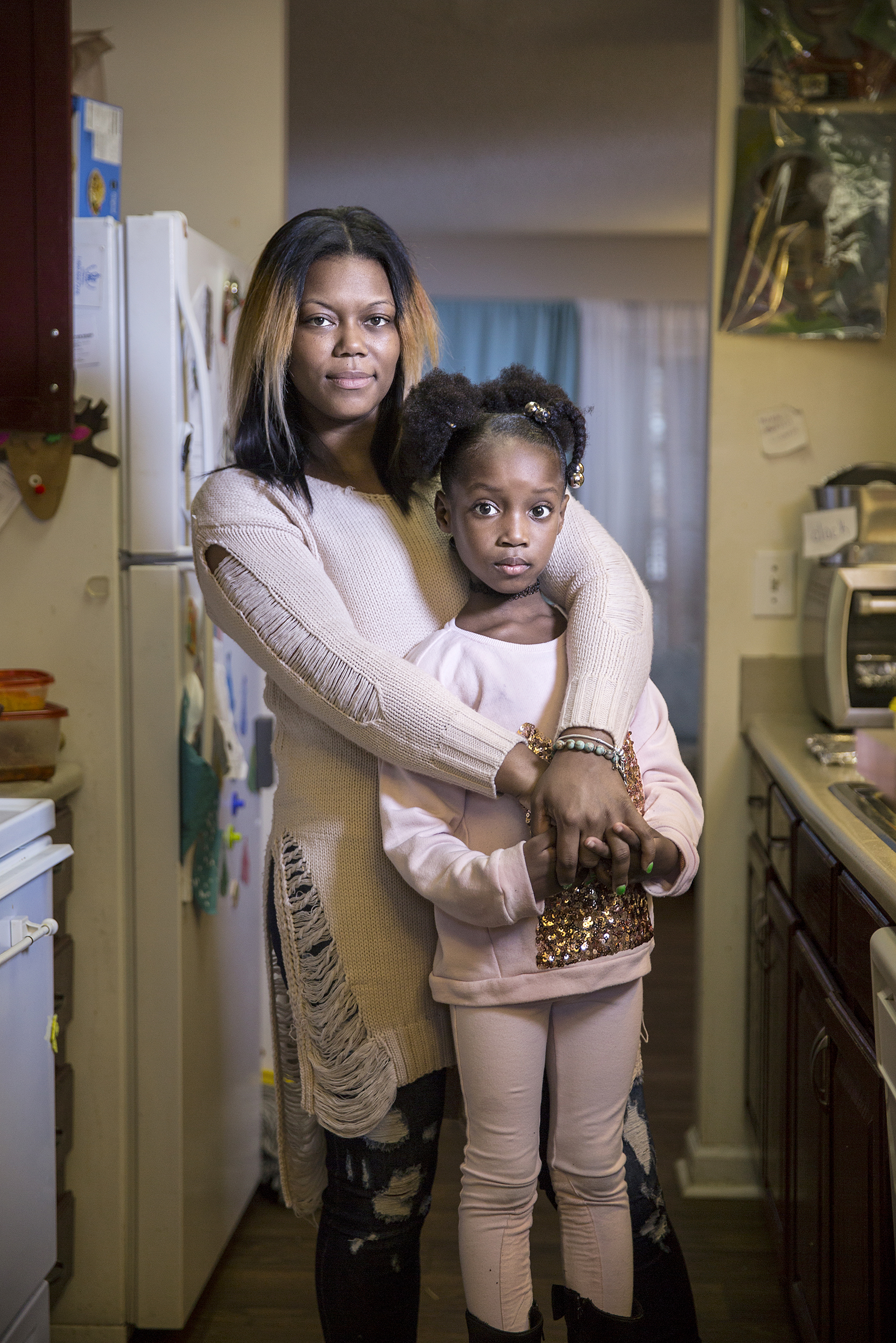 "Masonia Traylor, with daughter Marissa, 5: ""I did everything I needed to do to make sure she got here HIV-negative. She needs to do what she has to do to stay that way."""