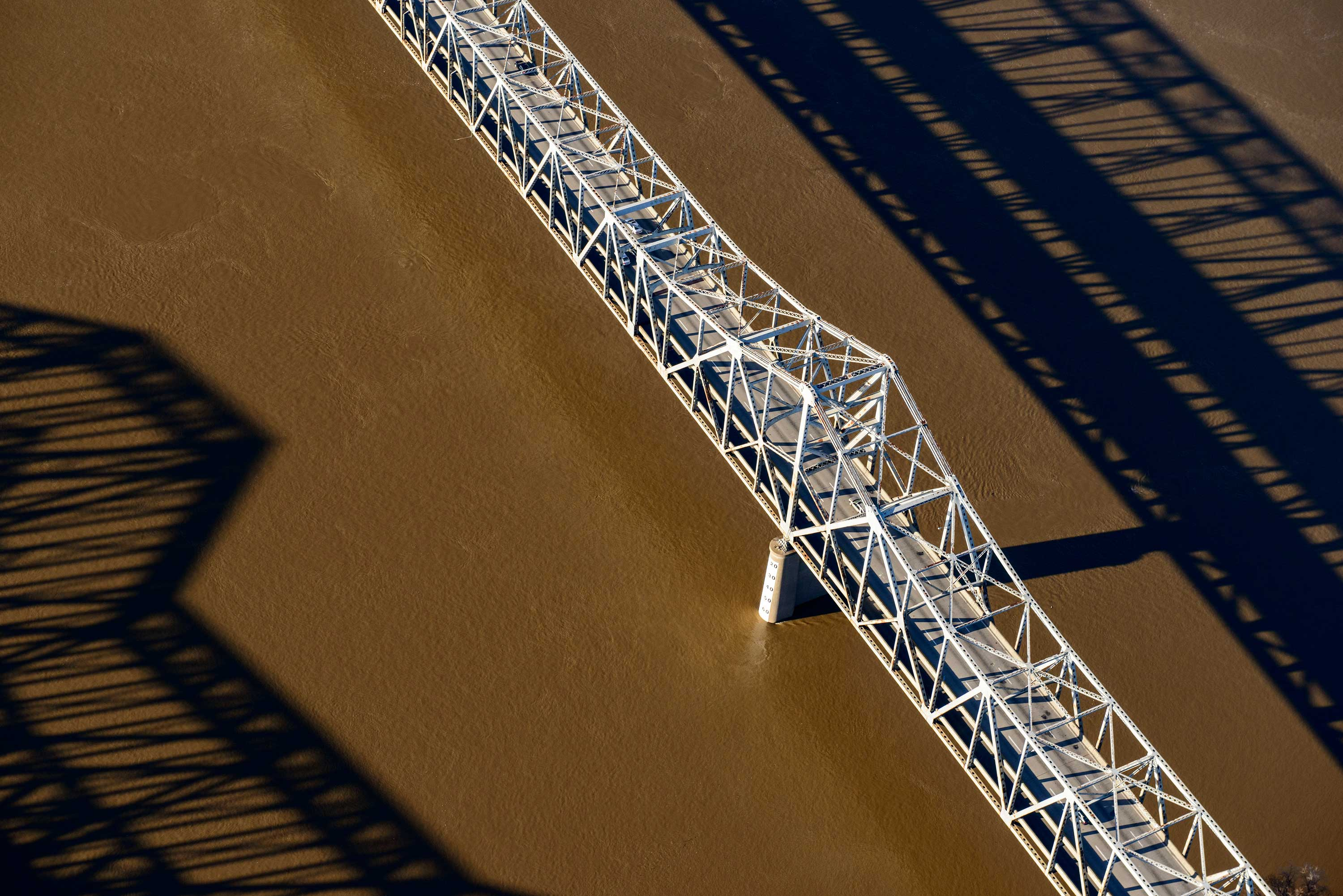 Most bridges built midcentury have a 50-year design life; the Brent Spence Bridge over the Ohio River will turn 54 this year.