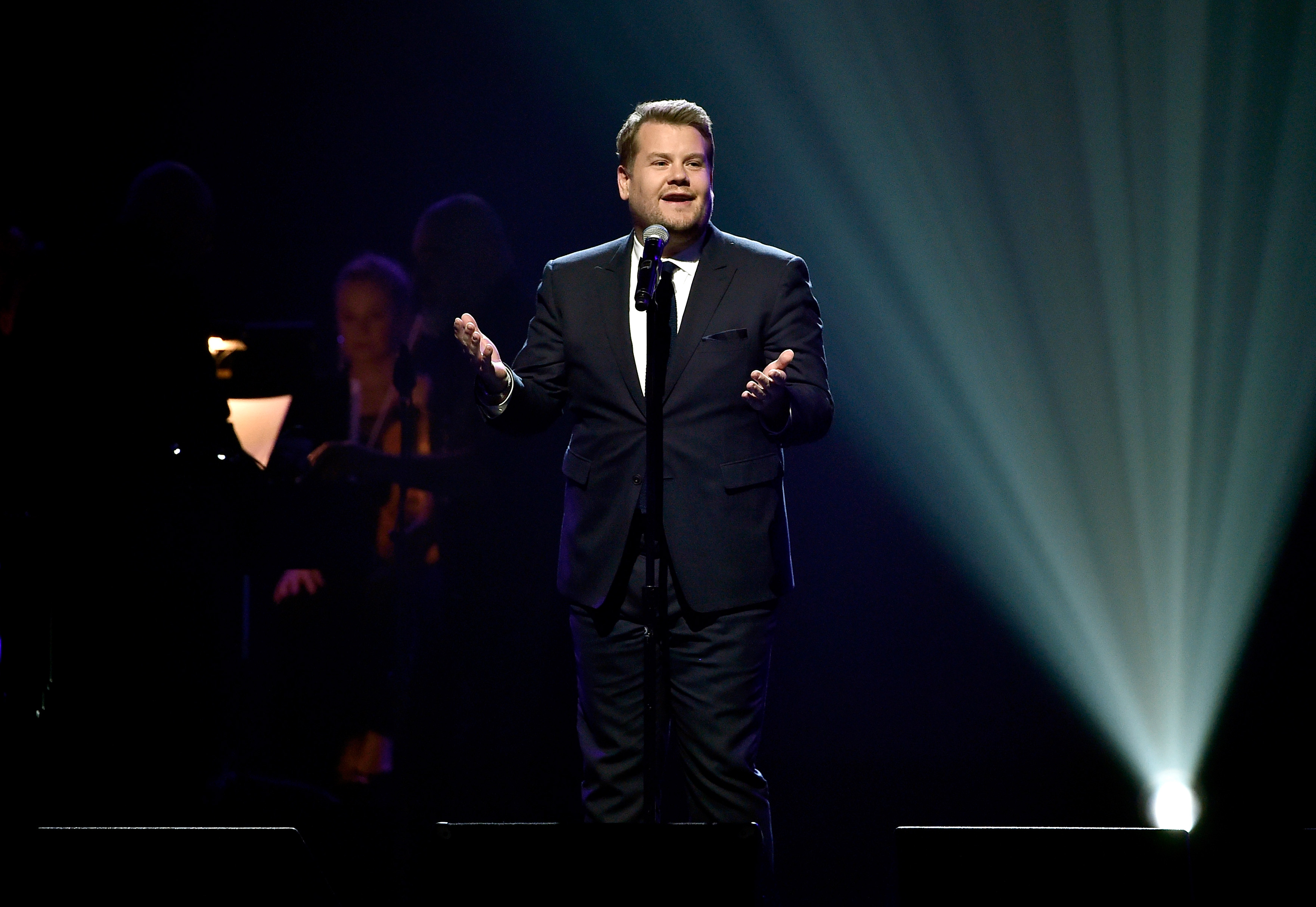 Actor James Corden performs at the 20th Annual Power Of Love Gala at the MGM Grand Garden Arena on May 21, 2016 in Las Vegas City.