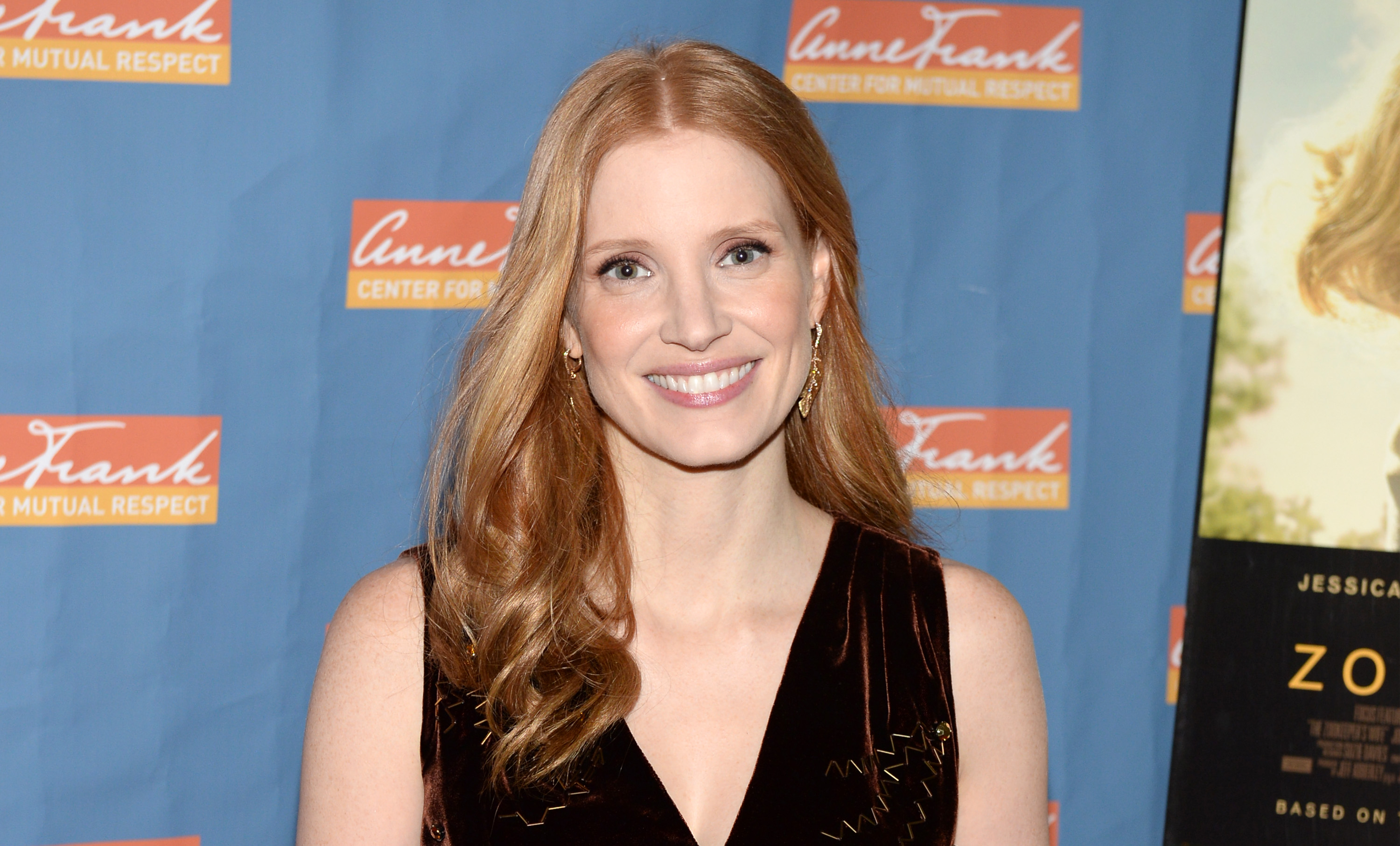 Jessica Chastain attends  The Zookeeper's Wife  special screening at Regal Union Square on March 19, 2017 in New York City.  (Photo by Andrew Toth/FilmMagic)