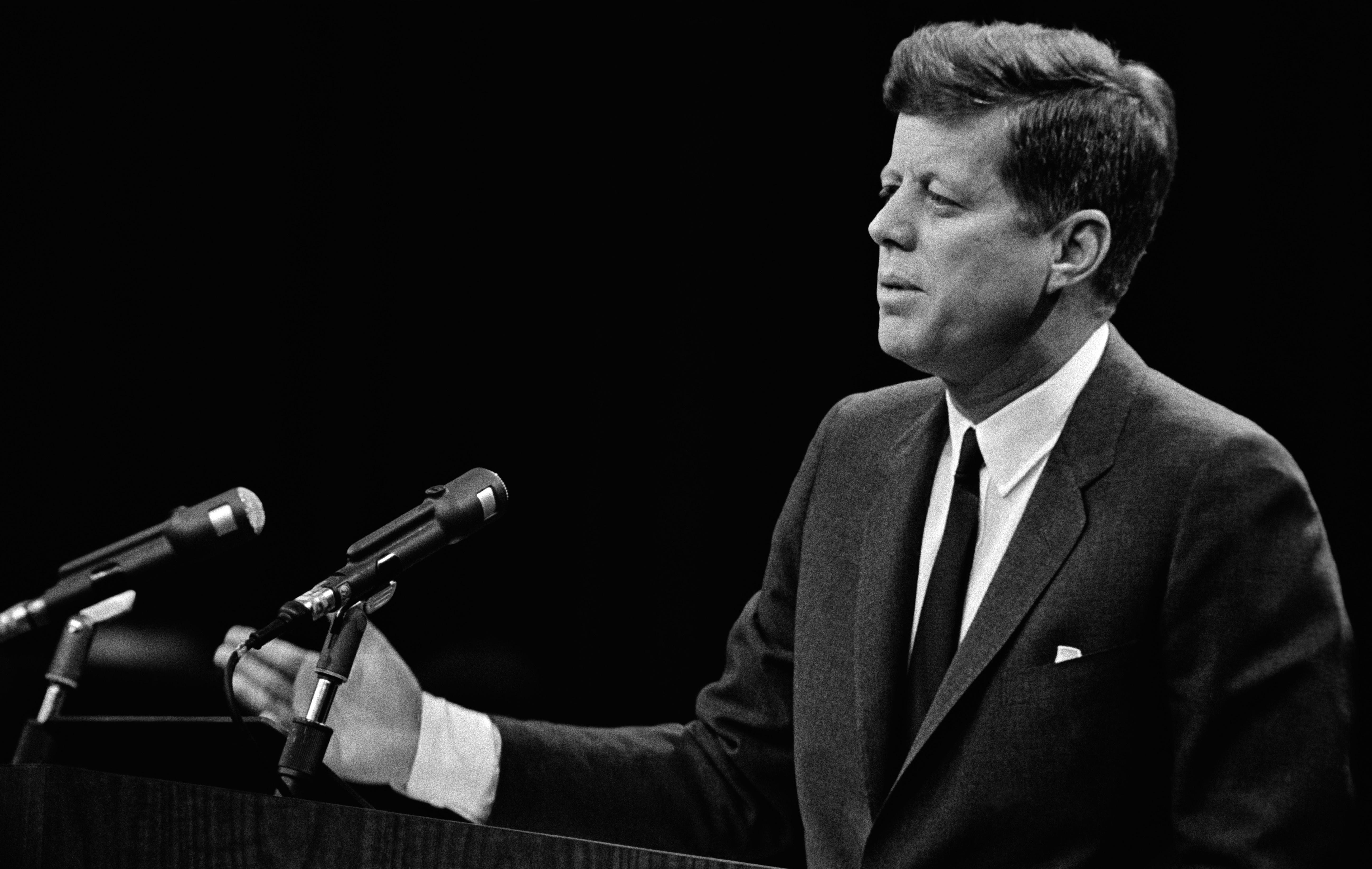 President John F. Kennedy's speech in 1963 in Washington D.C.
