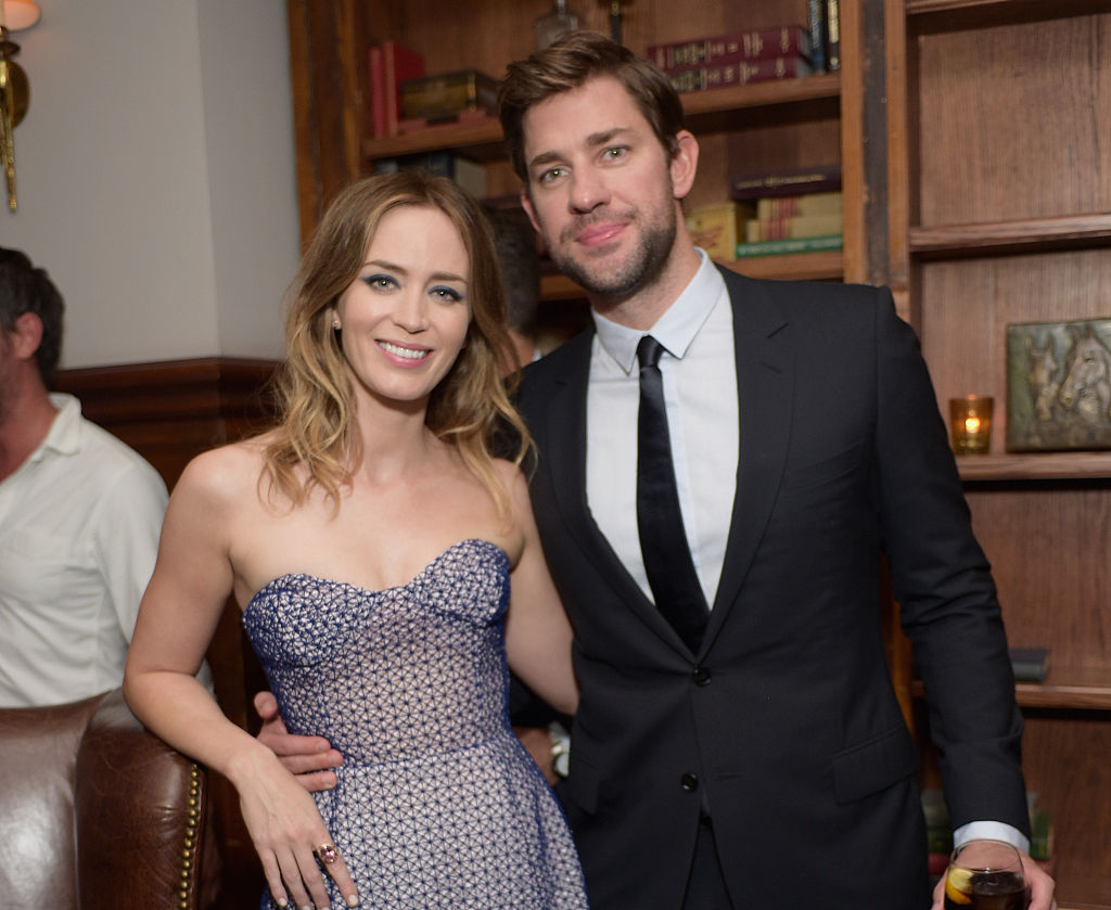 John Krasinski and Emily Blunt attend the Sicario TIFF party hosted by GREY GOOSE Vodka and Soho Toronto at Soho House Toronto on September 11, 2015 in Toronto, Canada.
