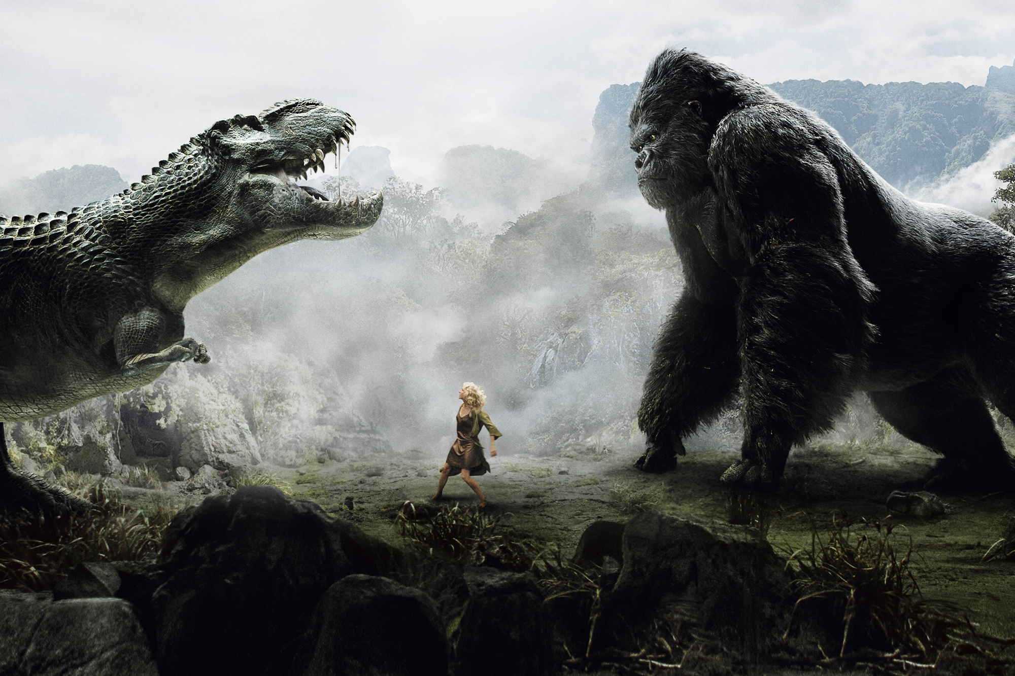King Kong, 2005: Peter Jackson's 24-ft. ape relied heavily on motion capture with a healthy dose of CG animation. Actor Andy Serkis traveled to Rwanda to study the behavior of gorillas, then performed Kong's scenes in a special suit with dozens of optical markers—132 alone on his face—that recorded his gestures and expressions.