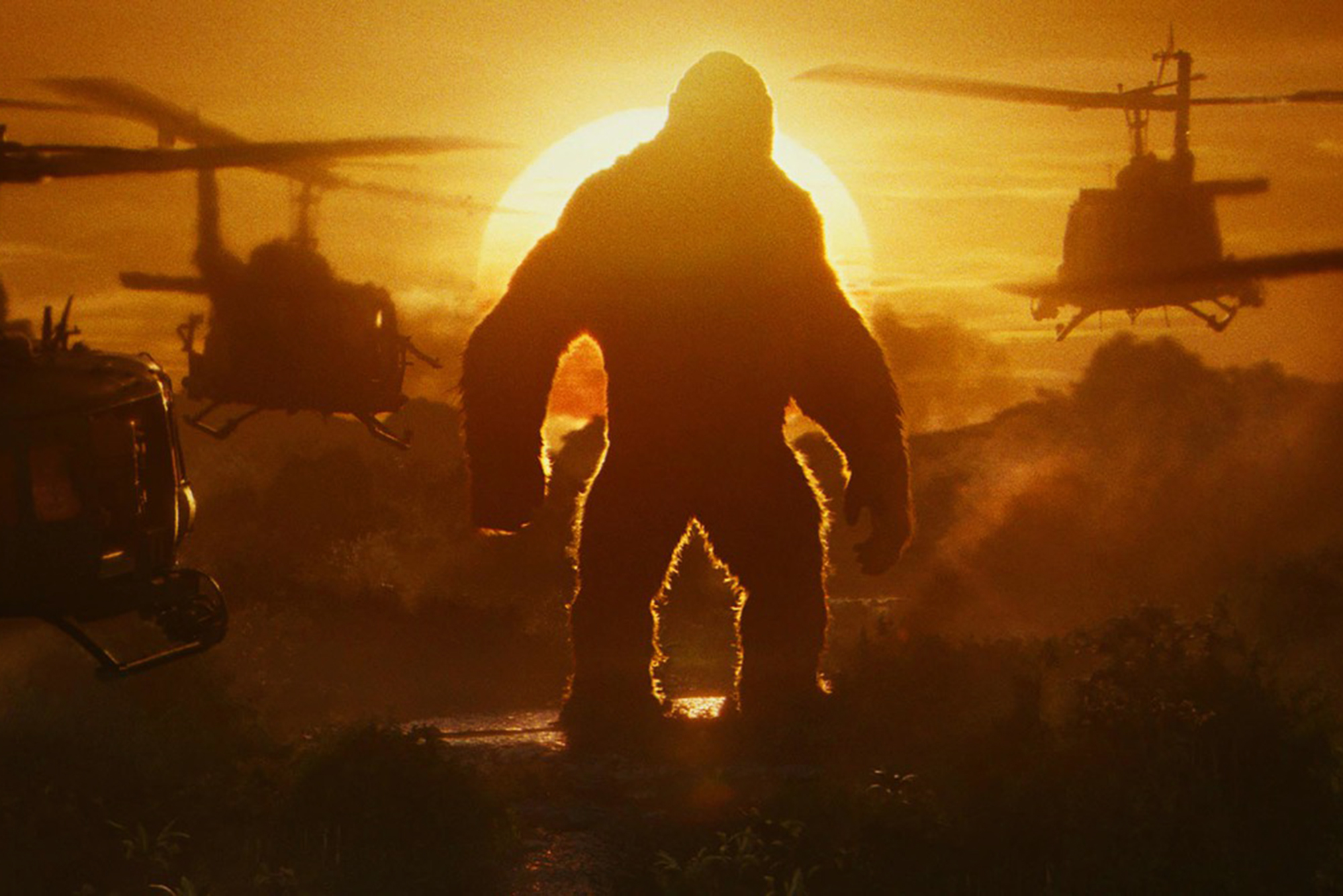Kong: Skull Island, 2017: The new Kong is a throwback to the 1933 version, visually referencing that movie's classic monster look. Though motion-capture sessions contributed to his visage, the 100-ft. monster came to life through computer animation. The biggest challenge: his fur. Animators spent a year designing his 19 million digital hairs.