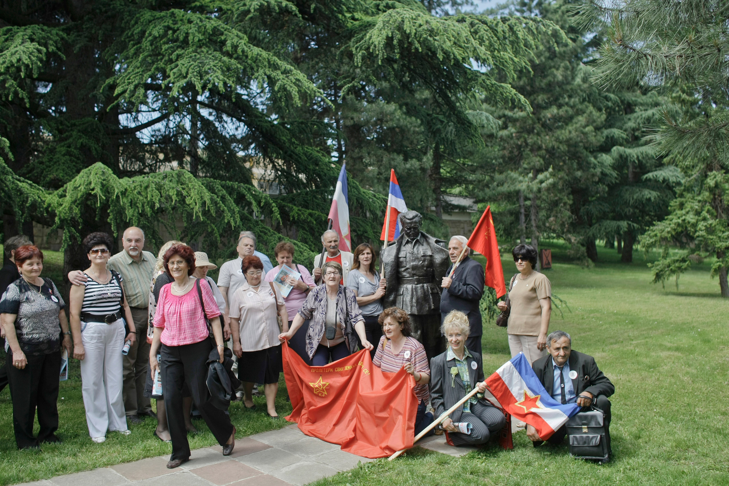 Declared Yugoslavs and Yugo-nostalgics gather at the late Yugoslav strongman Josip Broz Tito's memorial complex, Belgrade, Serbia, May 25, 2010.