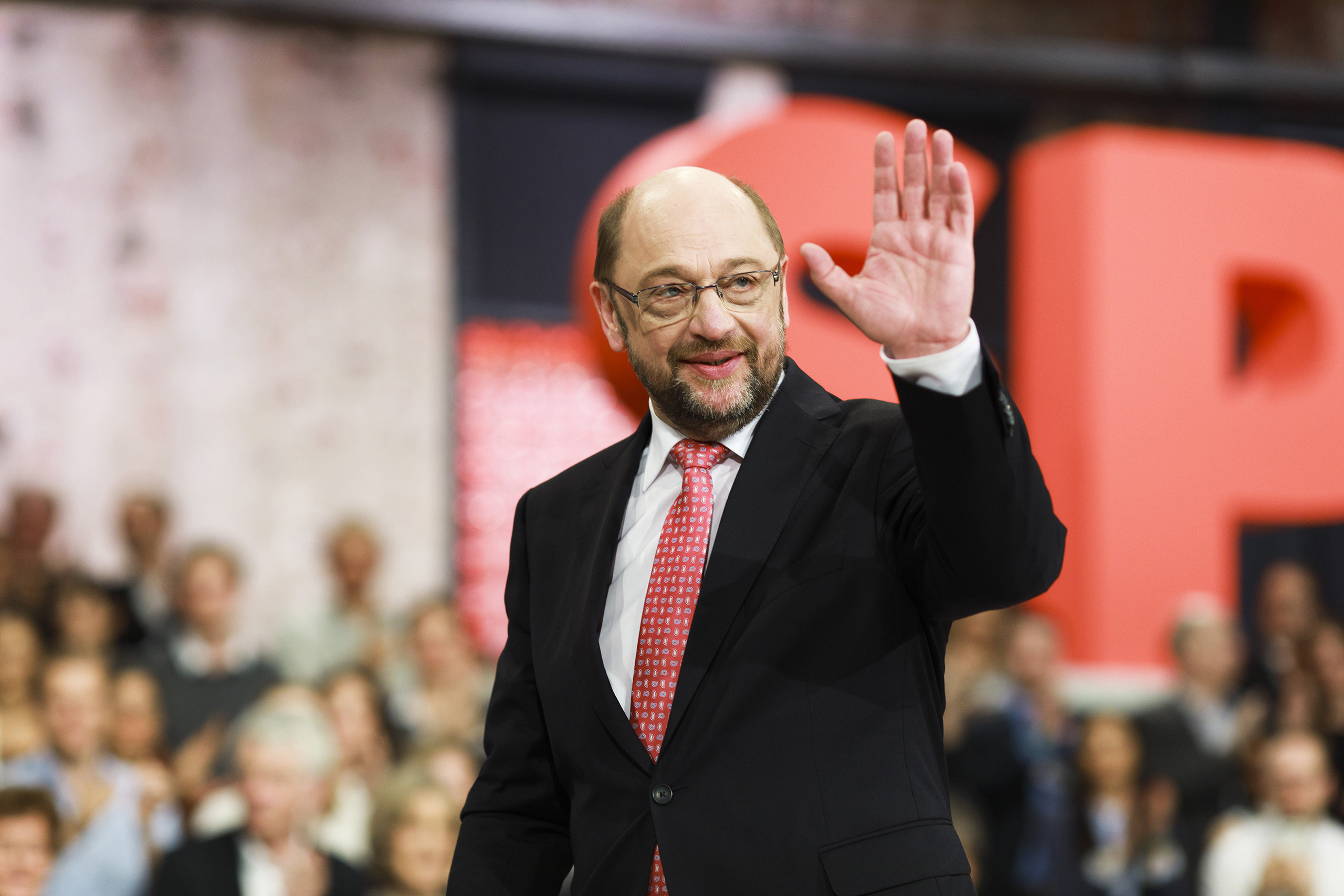 "His party's poll bump and 13,000 new members have been dubbed the ""Schulz effect"""