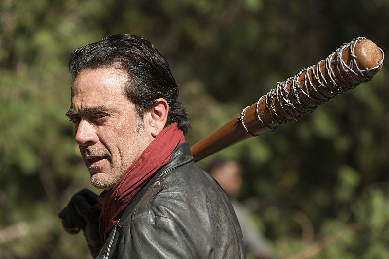 Jeffrey Dean Morgan as Negan in The Walking Dead Season 7, Episode 16
