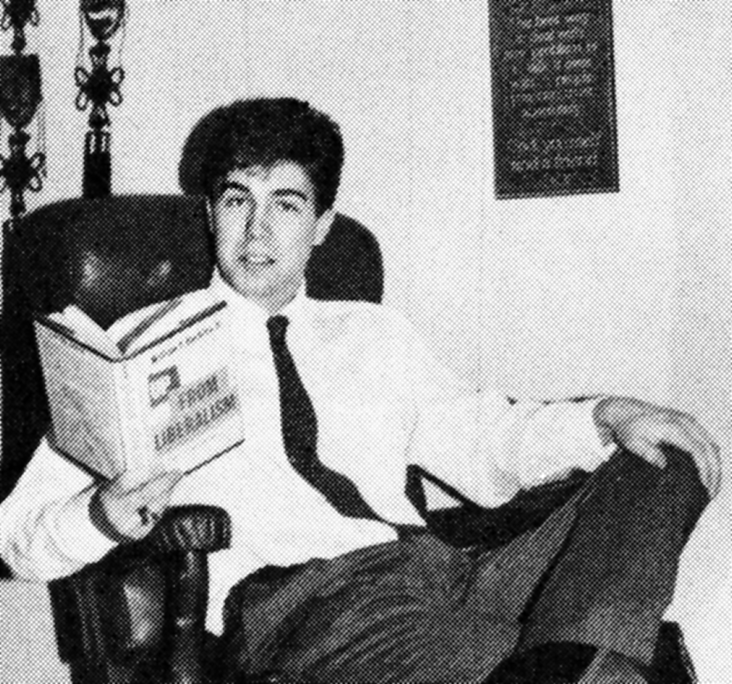 Gorsuch, with Up From Liberalism book by William F. Buckley, Senior Yearbook 1985, Georgetown Preparatory School, Rockville, Md.