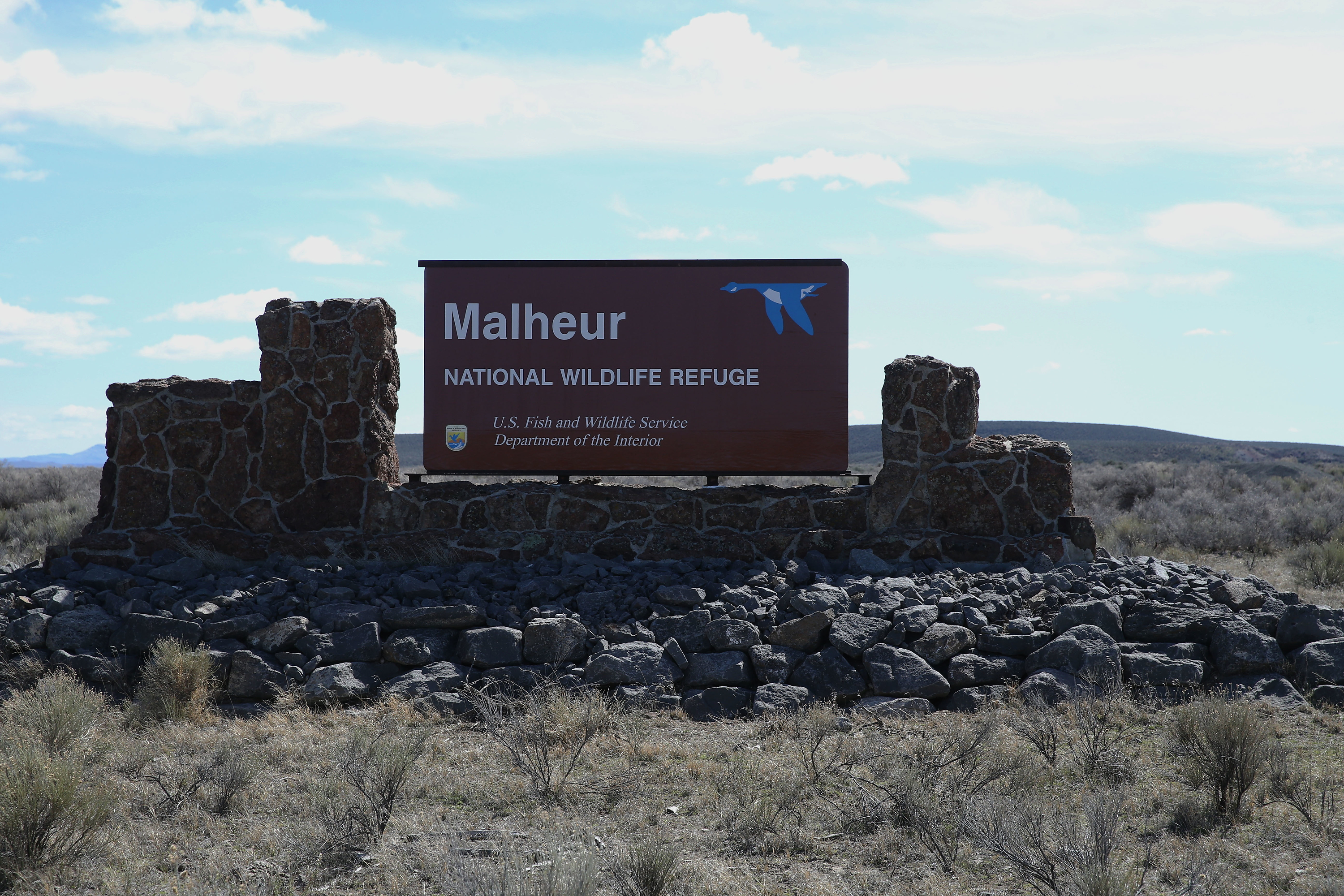 This March 23, 2016, file photo shows part of the Malheur National Wildlife Refuge near Burns, Ore.