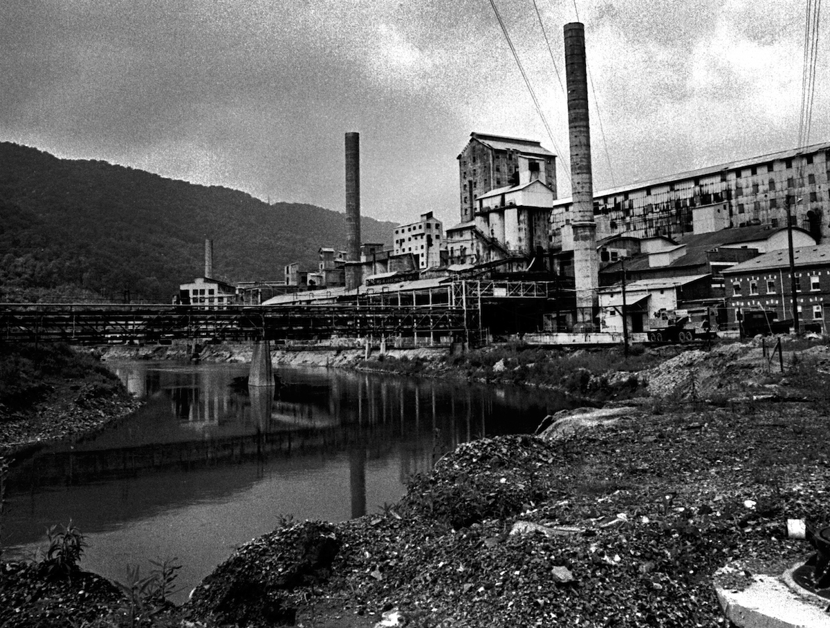 The Olin Mathieson Alkali Works plant (seen in 1968) in the Appalachian town of Saltville, Va,, for decades dumped its calcium chloride effluent into the North Fork of the Holston River which flowed past the plant. In 1970 the company announced it could not meet the new Environmental Protection Agency (EPA) water pollution standards and would close the plant.
