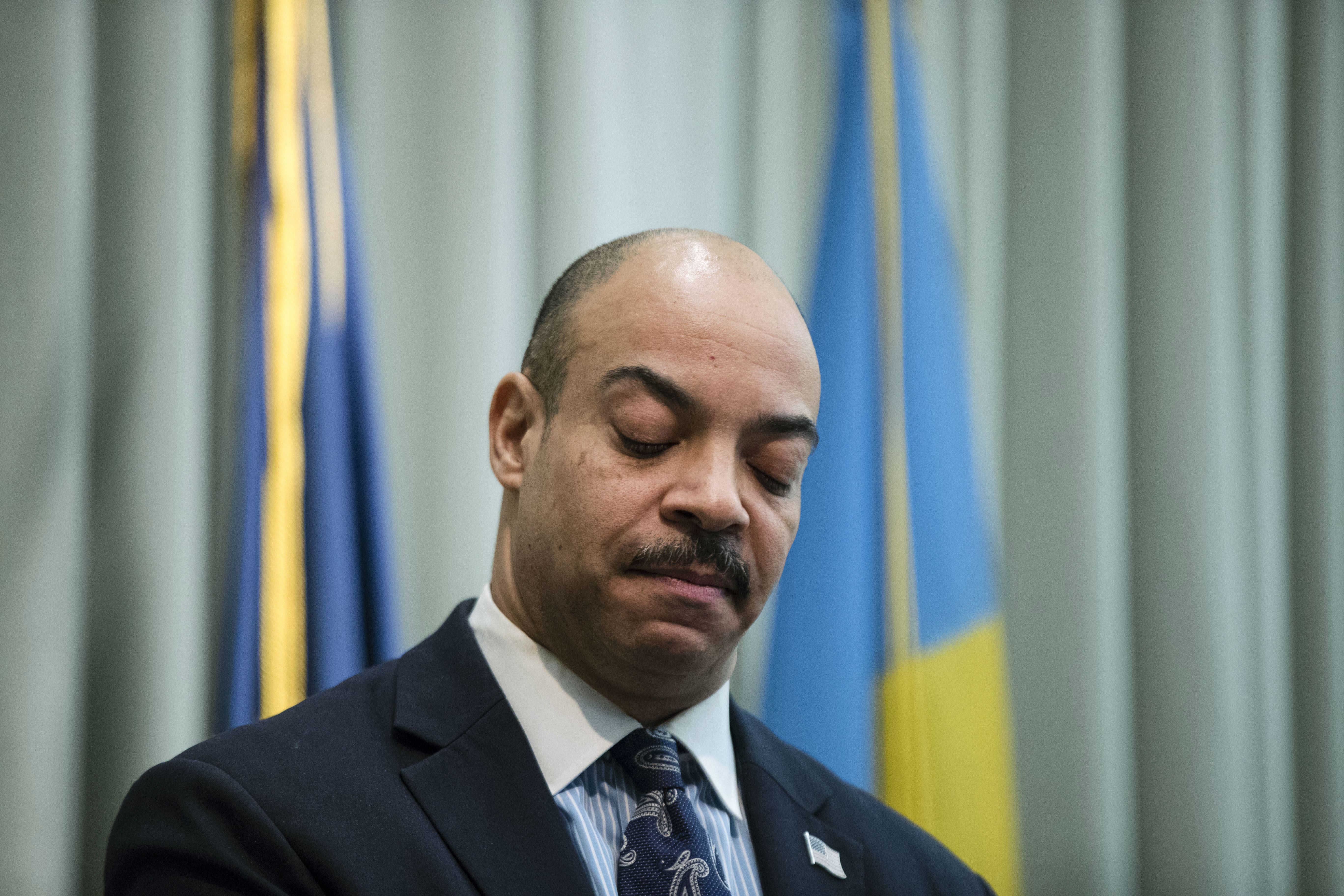 Philadelphia District Attorney Seth Williams speaks during a news conference in Philadelphia on Feb. 10, 2017.