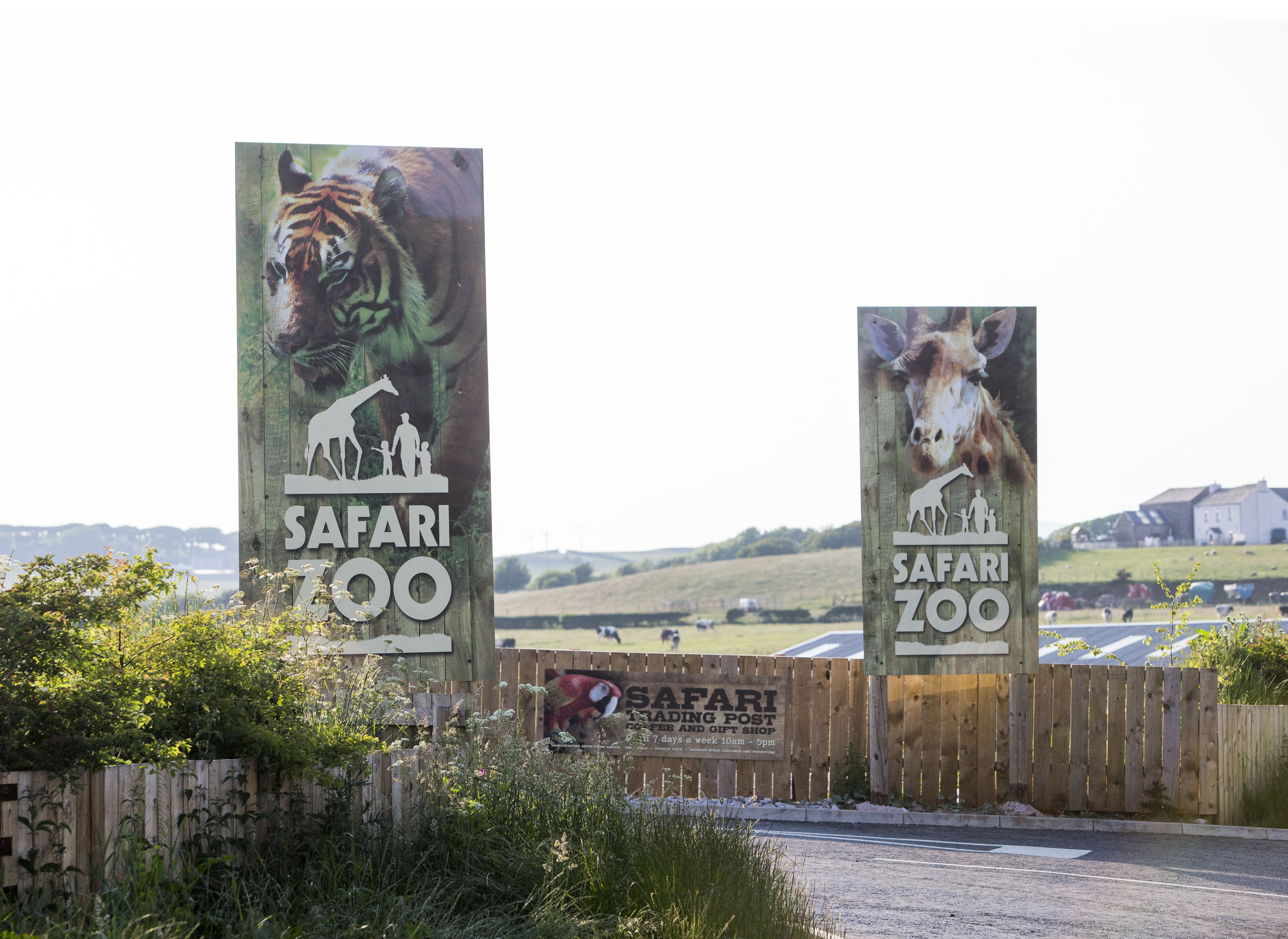 A general view of South Lakes Safari Zoo, formally known as South Lakes Wild Animal Park, in Cumbria, England on June 6, 2016.