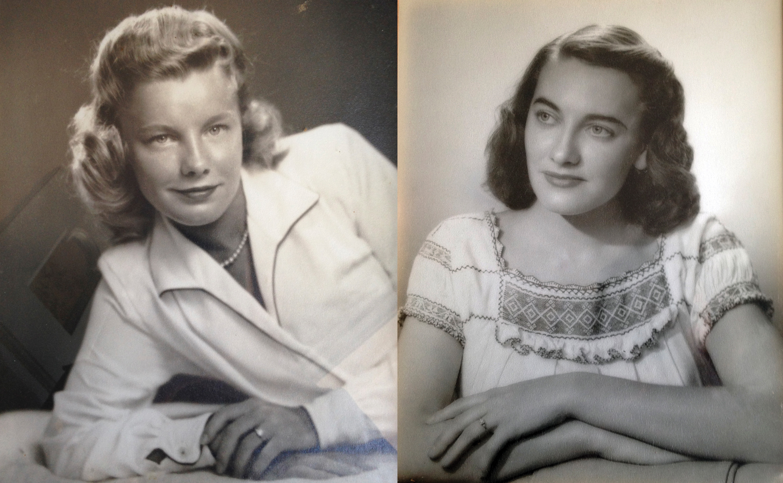 Martha Williams (left), Jean Haley (right)
