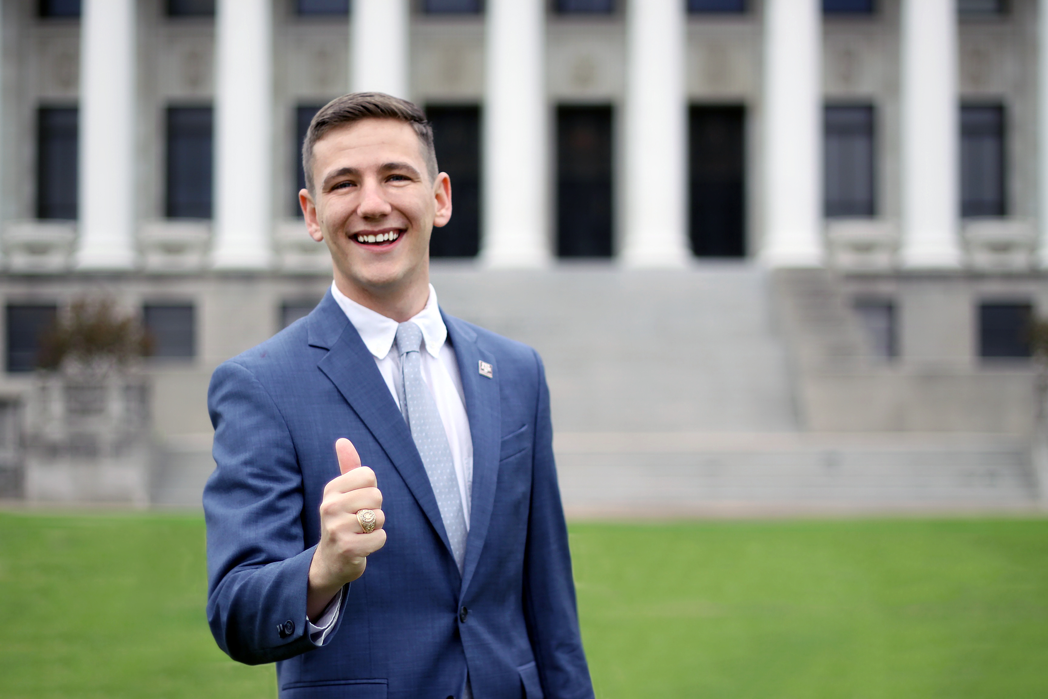 Bobby Brooks, a junior at Texas A&M University, was recently elected student body president.